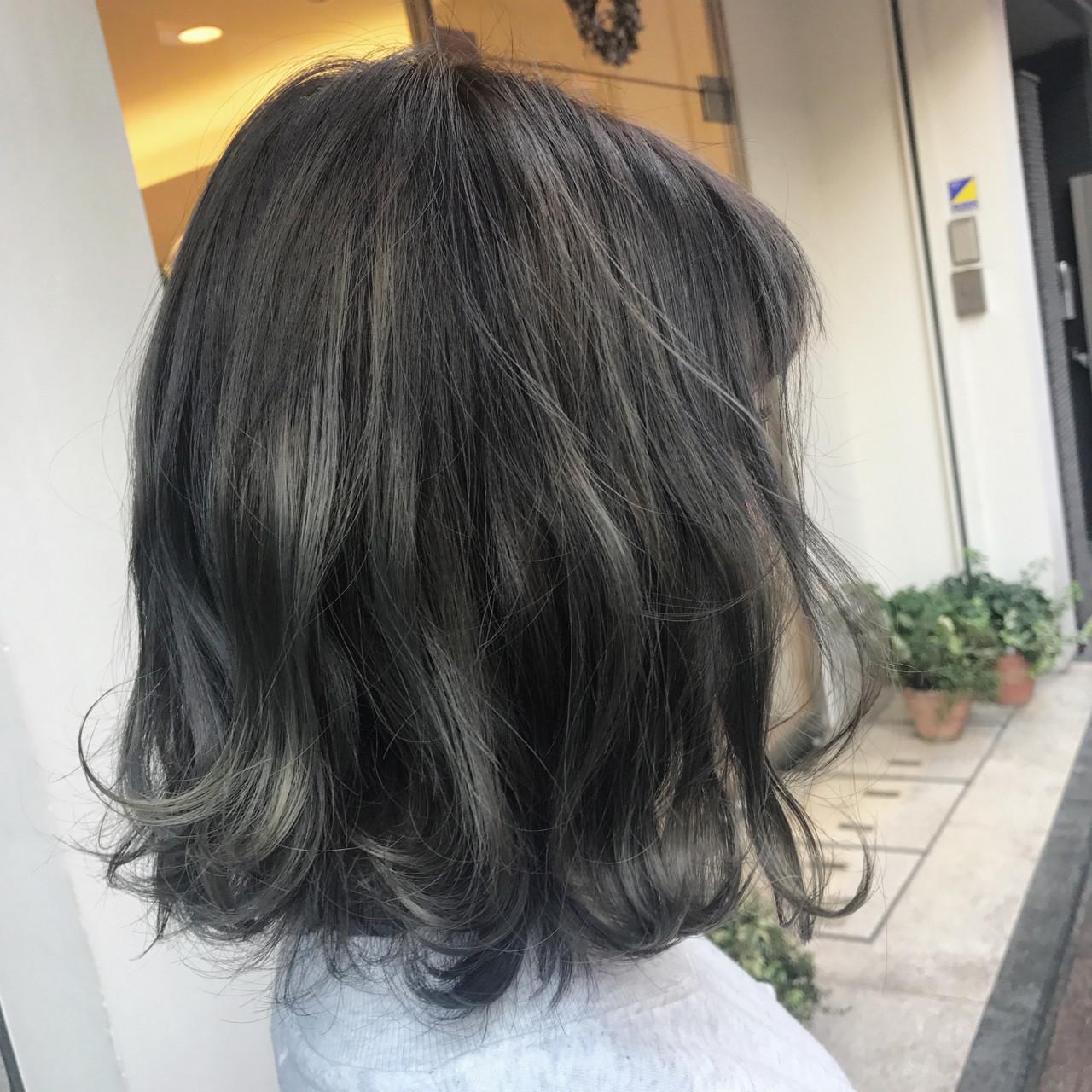 ボブ グレージュ 外国人風カラー アッシュ ヘアスタイルや髪型の写真・画像 | 桝田 由佳 / フリーランスでしてます!お電話のご予約不可です