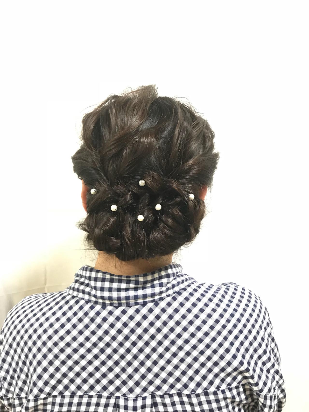 お呼ばれヘア フェミニン パーティヘア ヘアアレンジヘアスタイルや髪型の写真・画像