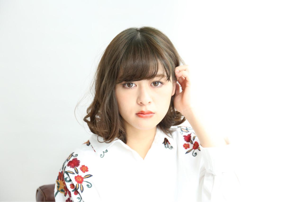 アッシュ 前髪あり こなれ感 ボブ ヘアスタイルや髪型の写真・画像 | 神山 賢司 / muruchura (ムルチュラ)