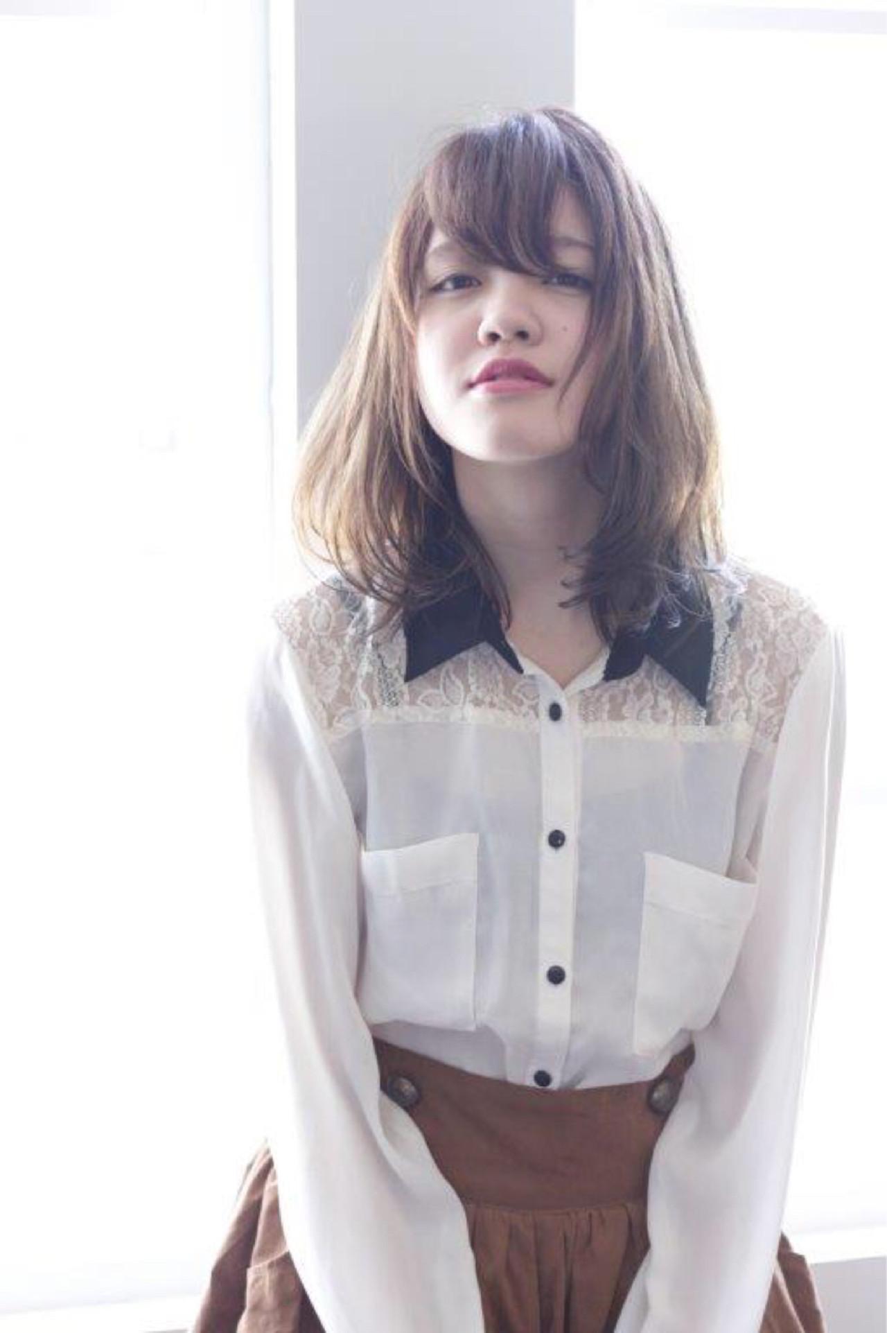 ナチュラル 前髪あり 艶髪 秋 ヘアスタイルや髪型の写真・画像 | 佐々田 広大 / Chord【コード】