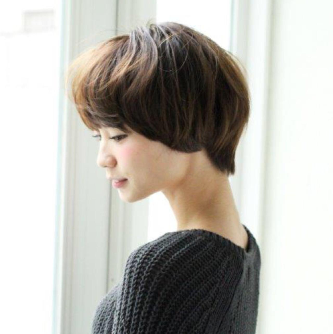 ボブ ショートボブ 大人かわいい ショート ヘアスタイルや髪型の写真・画像 | 切りっぱなしボブを流行らせた人 Un ami増永 / Un ami omotesando