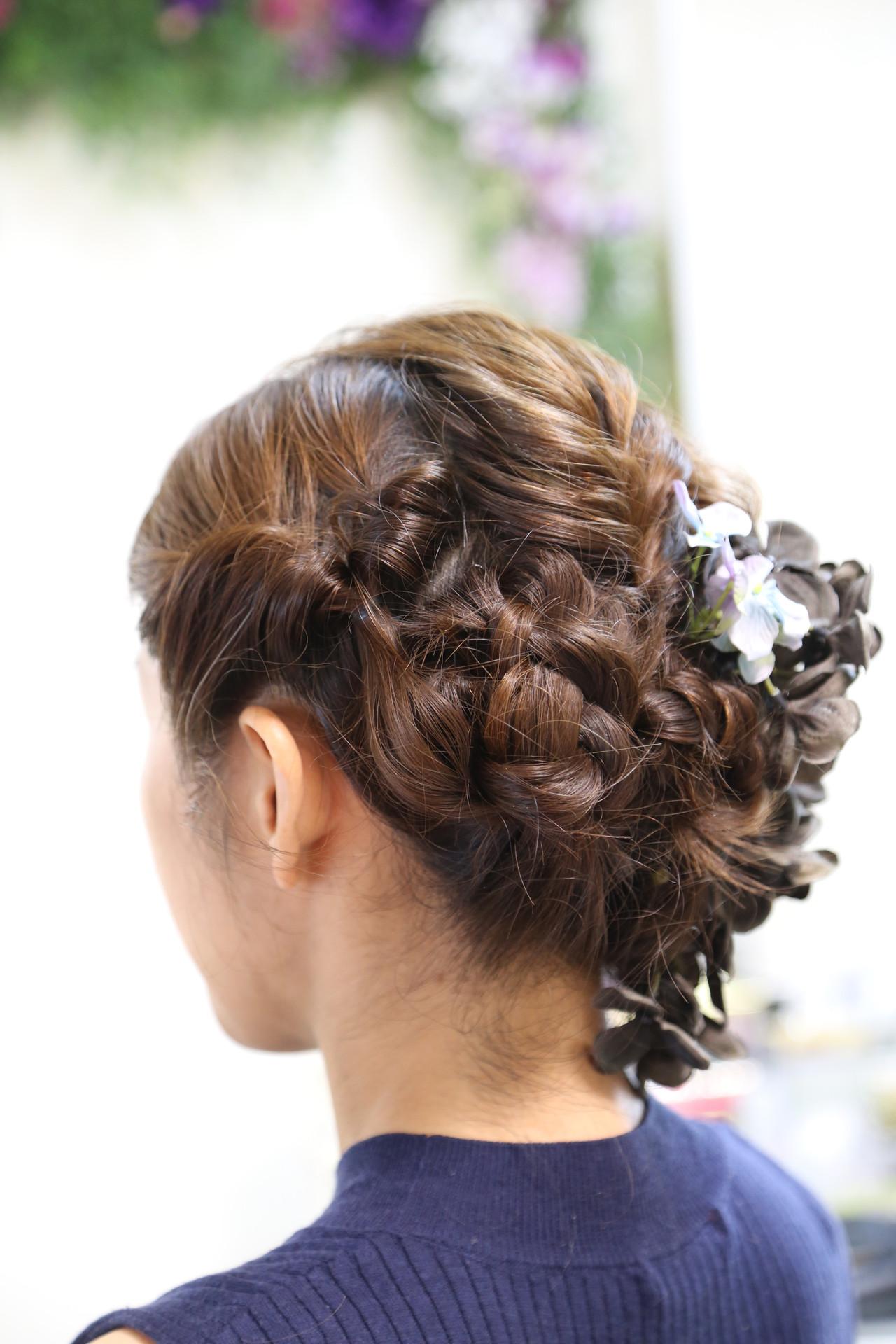 ロング エレガント 出張 結婚式 ヘアスタイルや髪型の写真・画像 | 渡部 ゆうこ / 「美forest」プライベート美容室×浅草着物レンタル