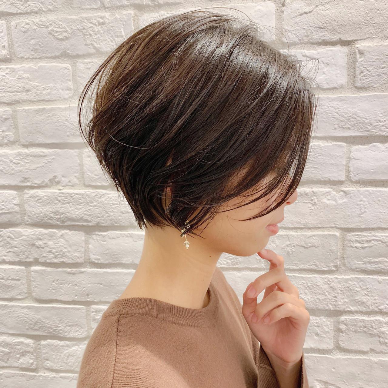 ナチュラル パーマ ヘアアレンジ ショート ヘアスタイルや髪型の写真・画像   ショートボブの匠【 山内大成 】『i.hair』 / 『 i. 』 omotesando