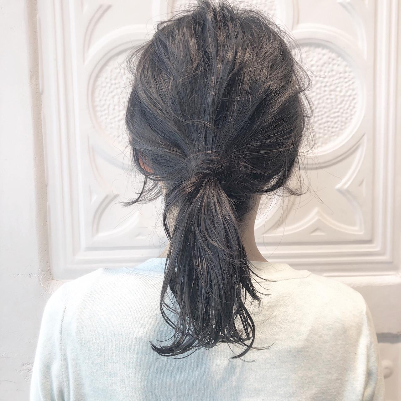 デート 簡単ヘアアレンジ ナチュラル 黒髪 ヘアスタイルや髪型の写真・画像   児玉善央 / GARDEN harajuku