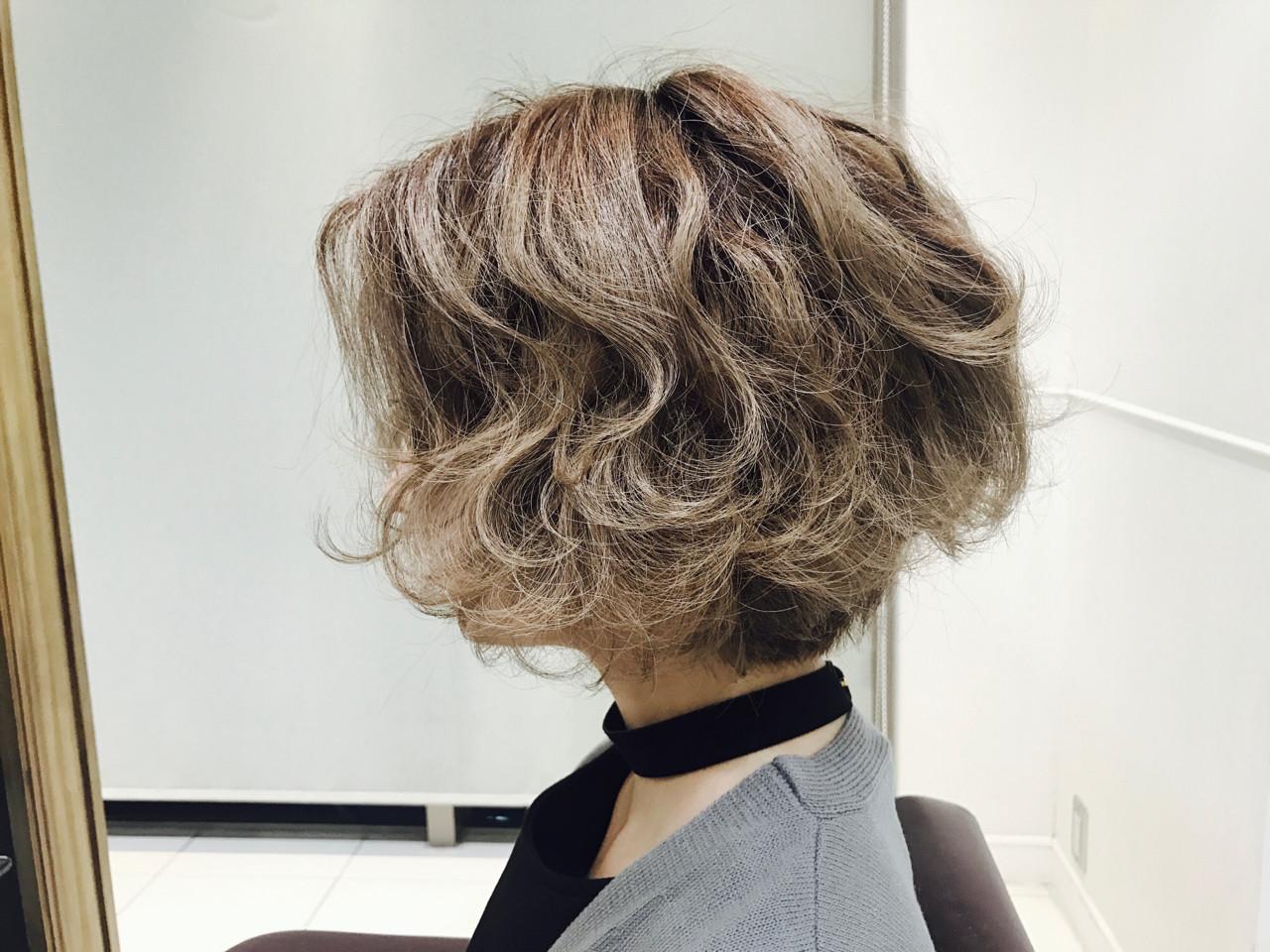 パーマ ストリート ボブ ヘアアレンジ ヘアスタイルや髪型の写真・画像 | 掛橋 翔 / air-FUKUOKA
