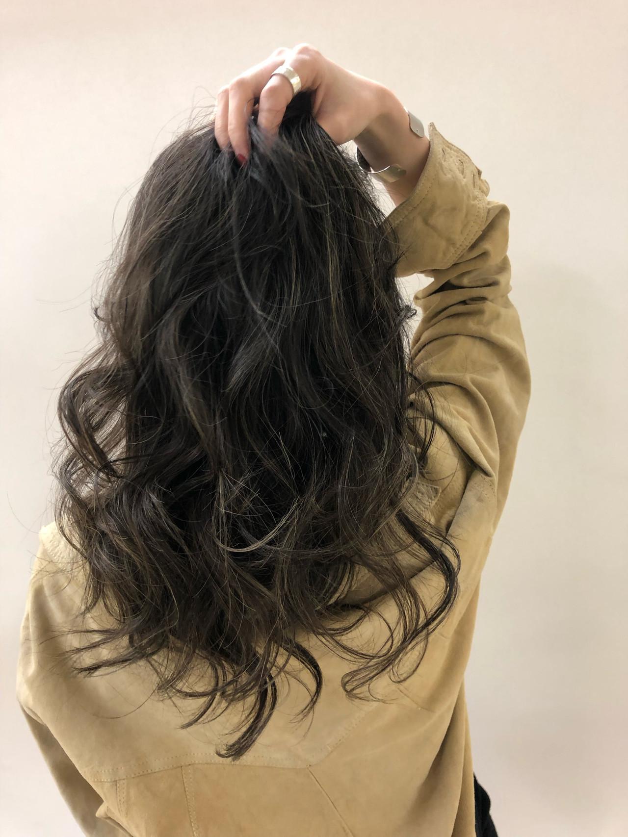 グラデーションカラー エレガント ハイライト ロング ヘアスタイルや髪型の写真・画像