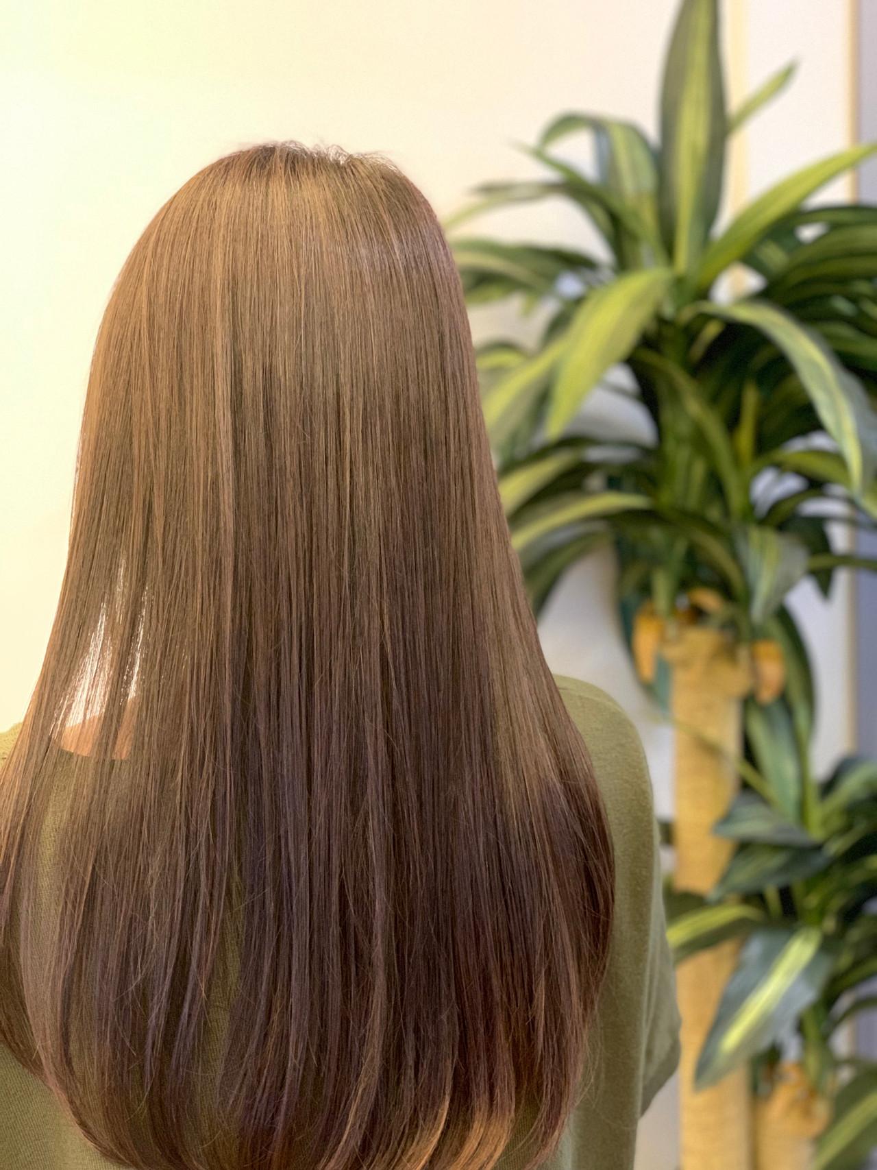 デート 髪質改善 ナチュラル ロング ヘアスタイルや髪型の写真・画像   飯島 直彬 / SEES HAIR