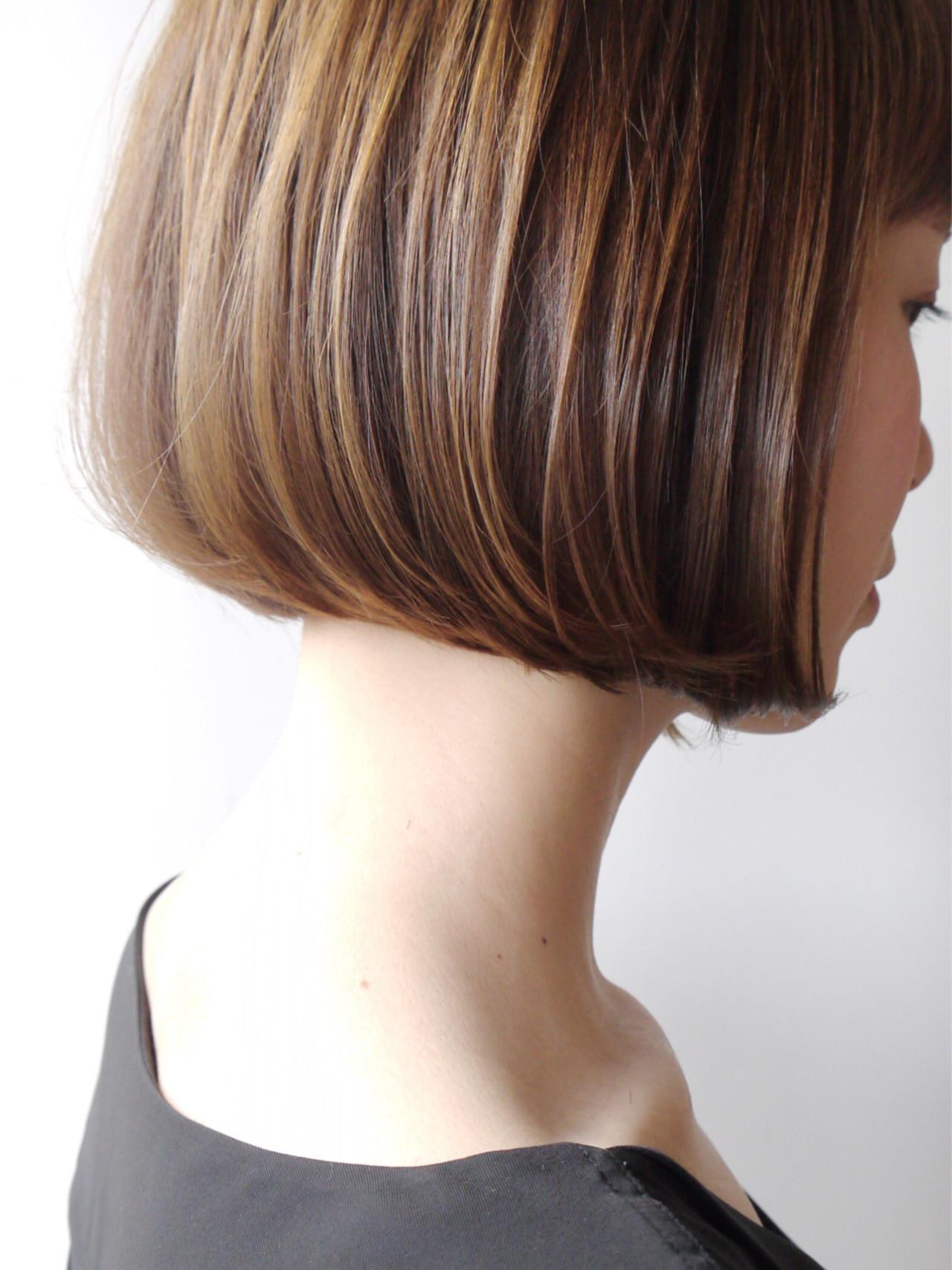 似合わせ 大人かわいい 切りっぱなし エレガントヘアスタイルや髪型の写真・画像