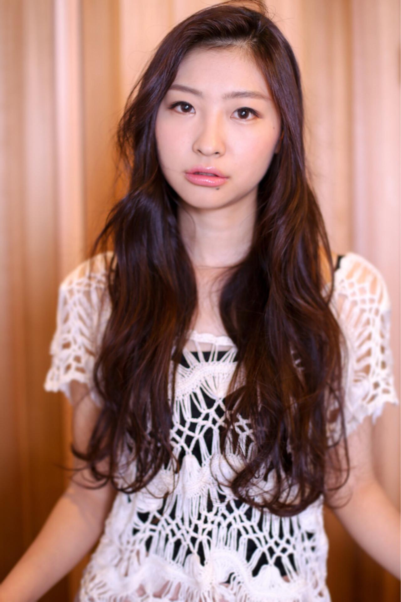 ナチュラル パーマ ピュア 黒髪 ヘアスタイルや髪型の写真・画像   ivory 田中慧 / ivory