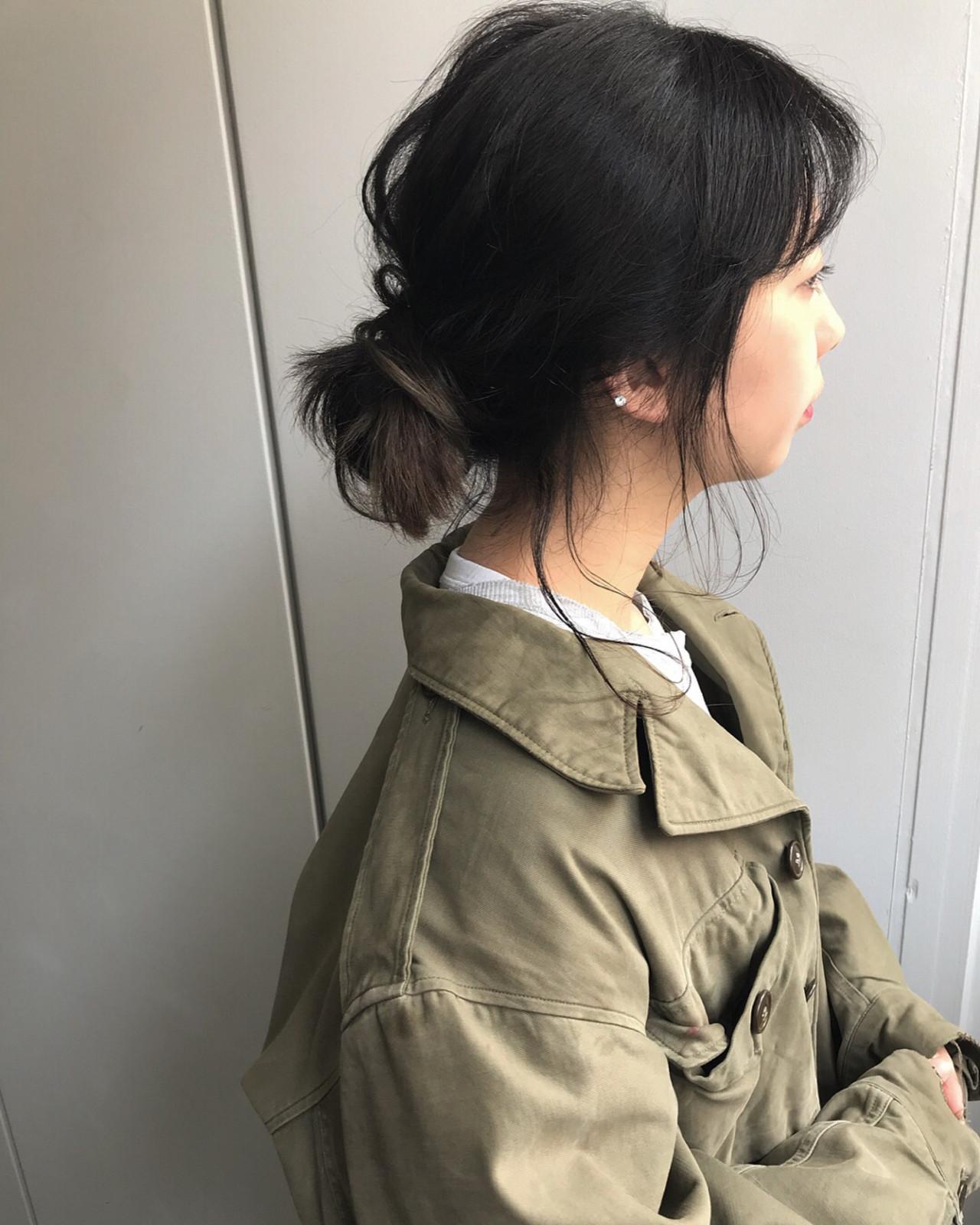 ナチュラル バレイヤージュ グラデーションカラー 簡単ヘアアレンジヘアスタイルや髪型の写真・画像