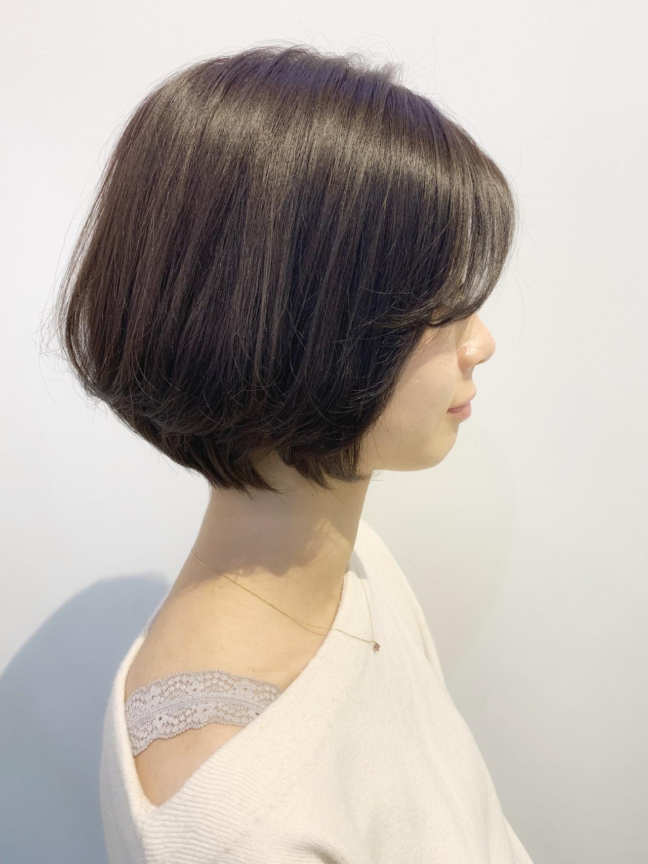 ボブ 大人女子 ショートボブ 艶髪 ヘアスタイルや髪型の写真・画像   CHIHO / old✂︎