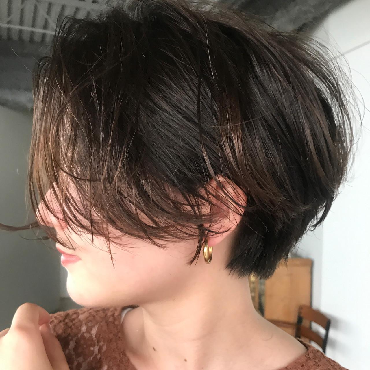 簡単ヘアアレンジ マッシュショート ショート ショートボブ ヘアスタイルや髪型の写真・画像 | 高橋 忍 / nanuk渋谷店(ナヌーク)