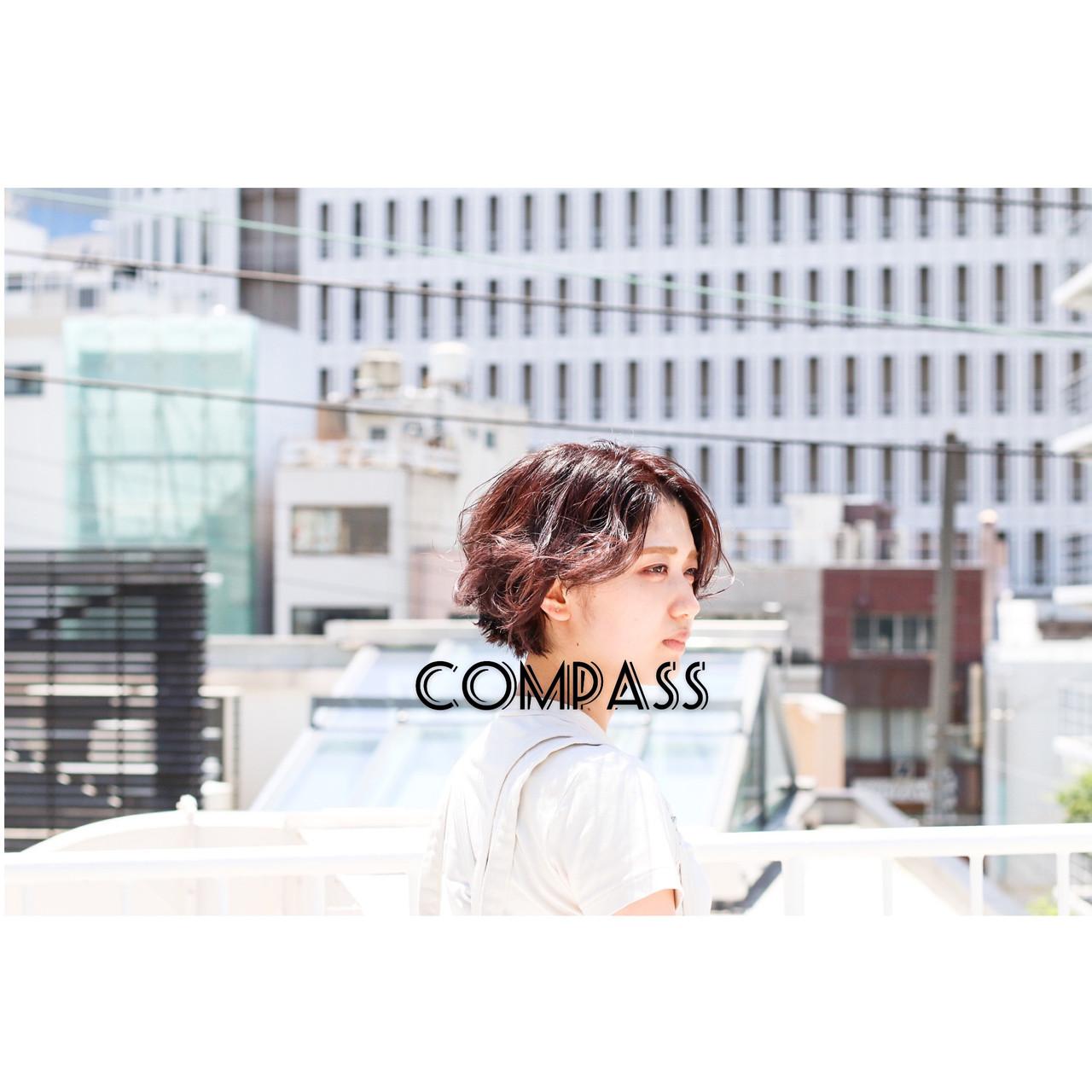 ショートヘア ナチュラル ウルフカット ショートボブ ヘアスタイルや髪型の写真・画像 | COM PASS 太一 / COM PASS