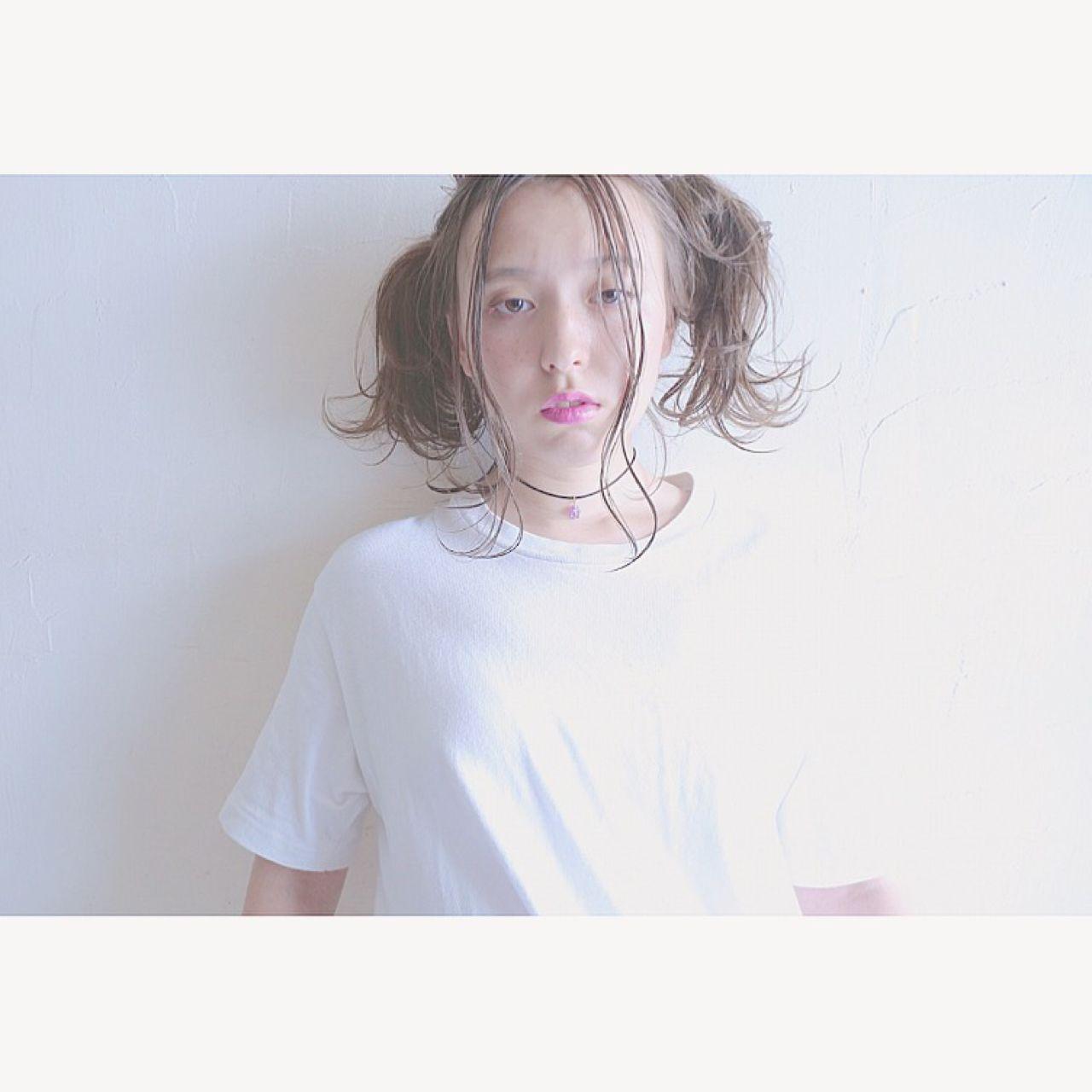 ストリート 愛され 春 ウェットヘア ヘアスタイルや髪型の写真・画像   米澤 香央里 / SYAN