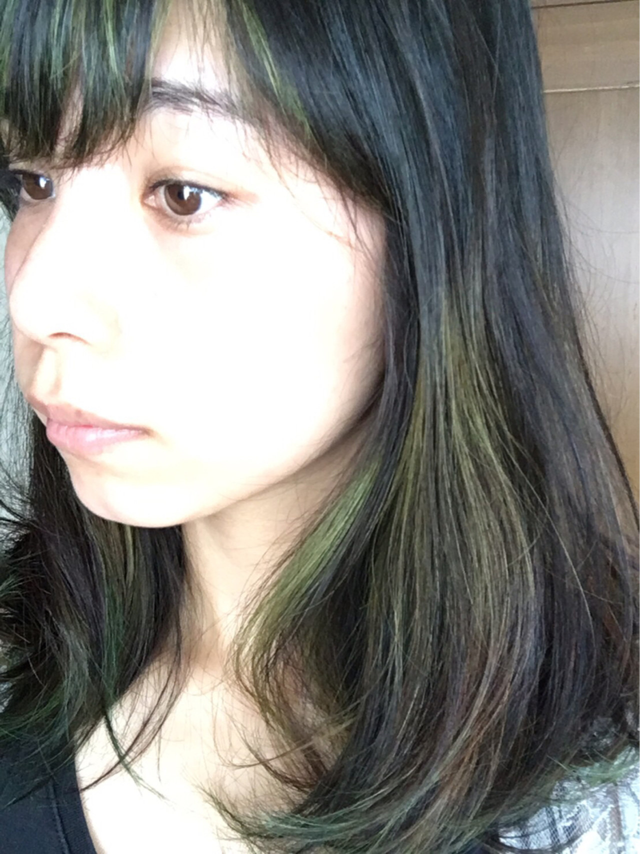 ミディアム ストリート くせ毛風 グリーン ヘアスタイルや髪型の写真・画像 | 原田 祐作 / 35(hachi)
