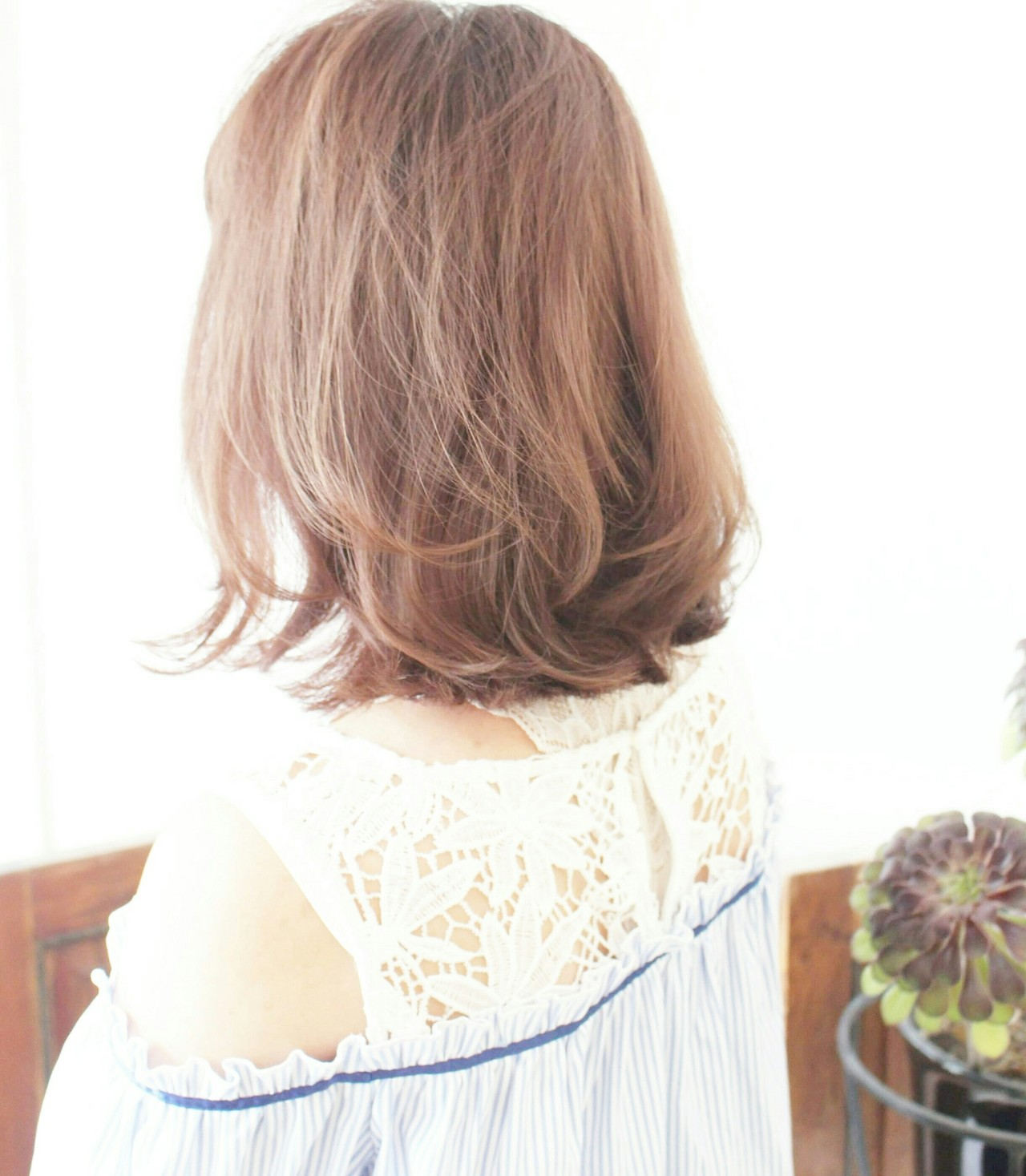 ハイライト こなれ感 ハイトーンカラー ガーリー ヘアスタイルや髪型の写真・画像 | Seiichirou Ueda / atelier luretta. Ink blue hair color