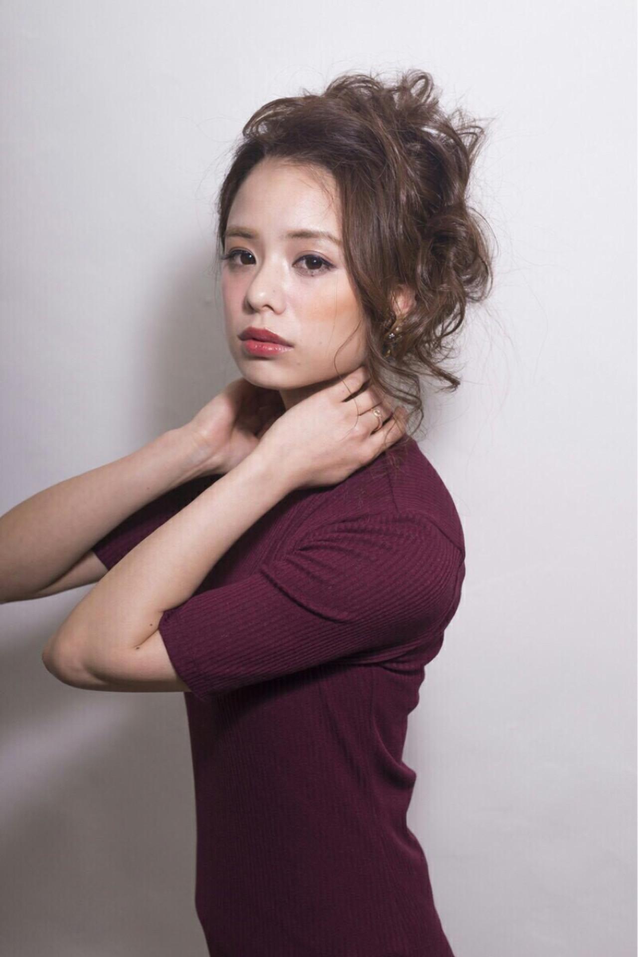 アップスタイル 大人女子 ヘアアレンジ 大人かわいいヘアスタイルや髪型の写真・画像