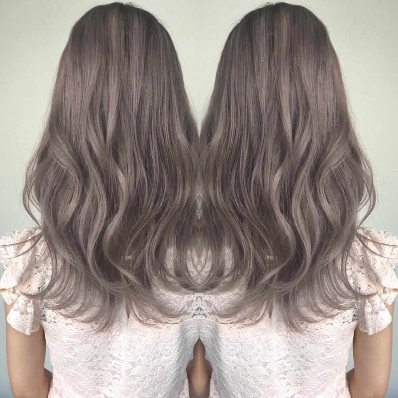 透明感 フェミニン セミロング 外国人風 ヘアスタイルや髪型の写真・画像 | デザインカラー講師 REOMA / BLITZ R-EVOLUT