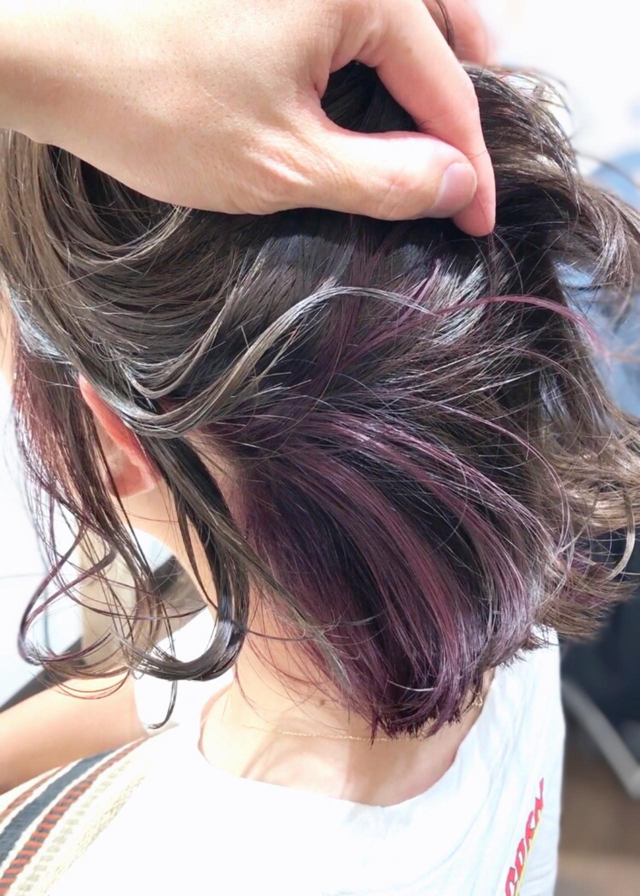 ピンク ストリート ピンクラベンダー ブリーチオンカラーヘアスタイルや髪型の写真・画像