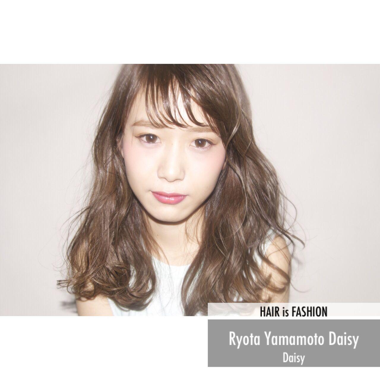 ミディアム ウェットヘア パンク 春 ヘアスタイルや髪型の写真・画像 | Ryota Yamamoto Daisy / Daisy
