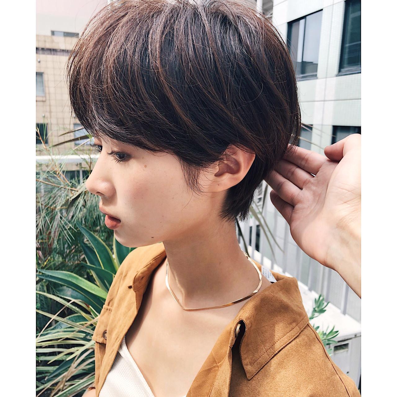ショート マッシュショート ショートボブ ショートヘアヘアスタイルや髪型の写真・画像