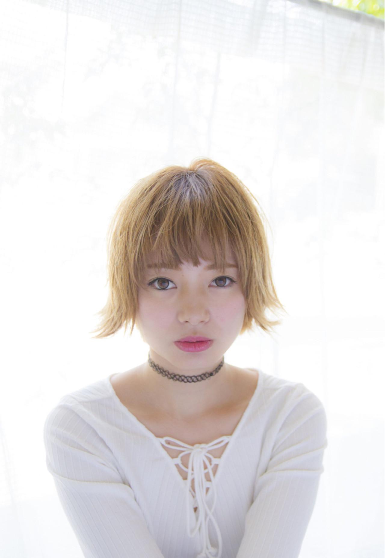 モード ブリーチ ショート 外国人風 ヘアスタイルや髪型の写真・画像 | 岩切陽平 / Hair&Beauty AURA