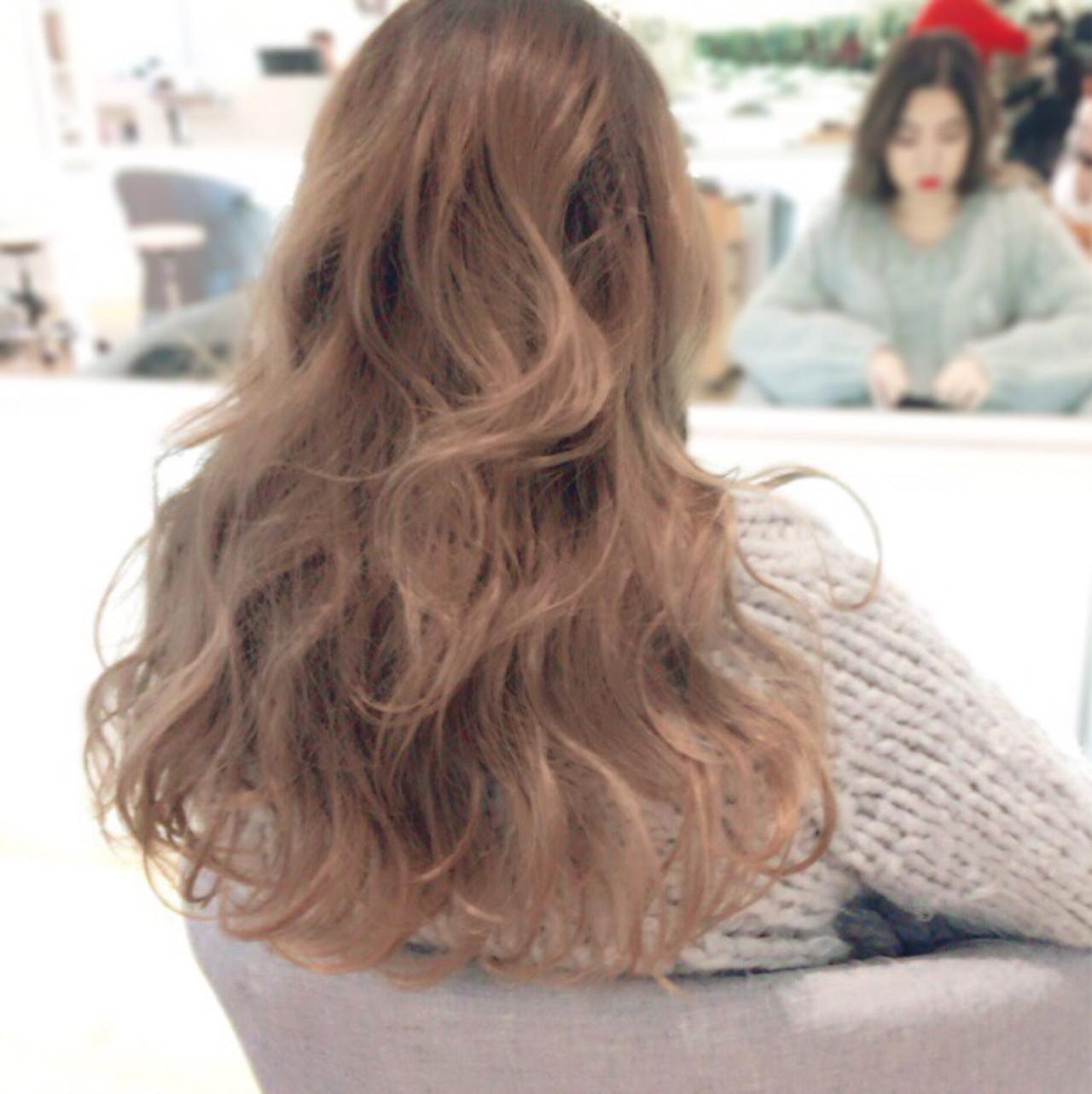 外国人風カラー ハイライト ロング 外国人風 ヘアスタイルや髪型の写真・画像 | イマムラ スナオ / LUKE