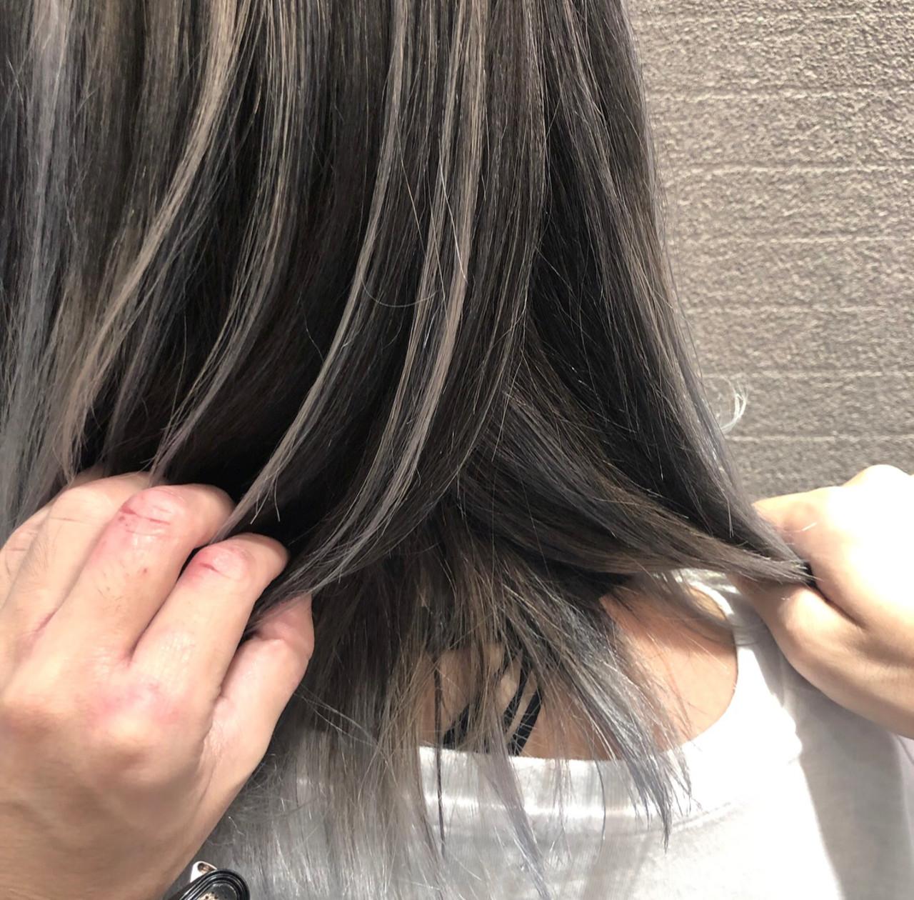 ストリート 外国人風 3Dハイライト ミディアム ヘアスタイルや髪型の写真・画像 | アンドウ ユウ / agu hair edge