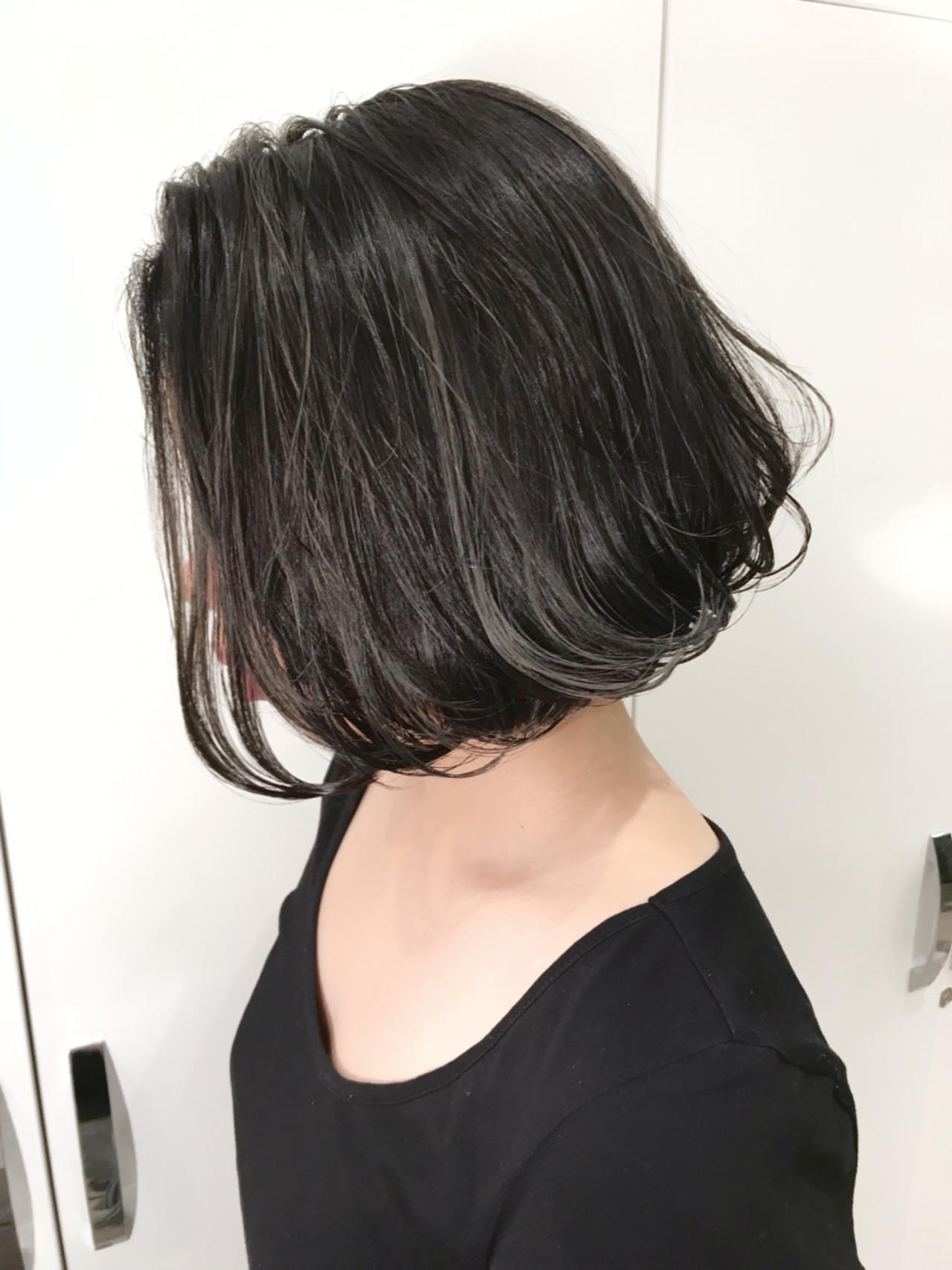 色気 ボブ 外国人風カラー ナチュラル ヘアスタイルや髪型の写真・画像   長谷川 龍太 / hair design tea