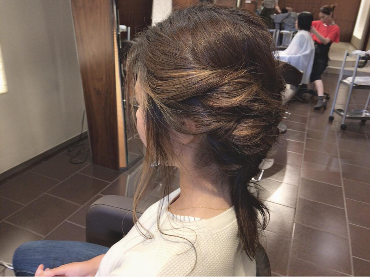 ハイライト 透明感 デート ヘアアレンジ ヘアスタイルや髪型の写真・画像 | 大山裕賀 / snobAnBlick