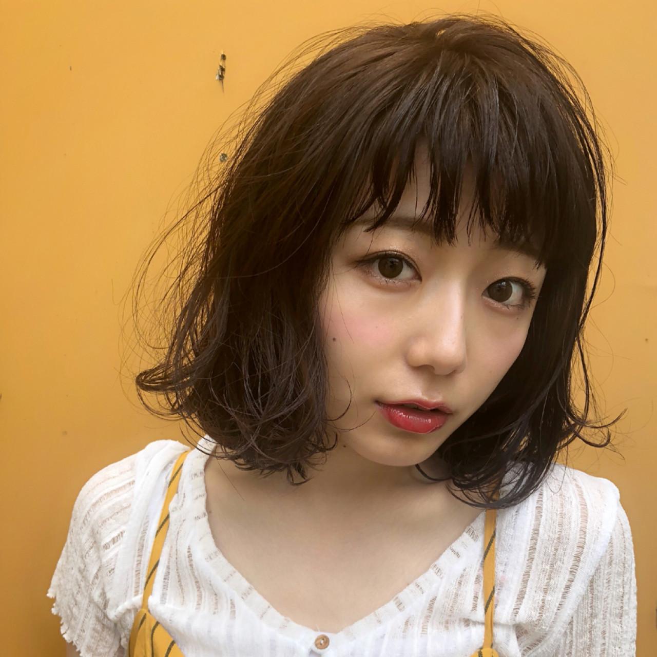 フェミニン オフィス ミディアム デート ヘアスタイルや髪型の写真・画像 | Ninomiya Takashi / Grege