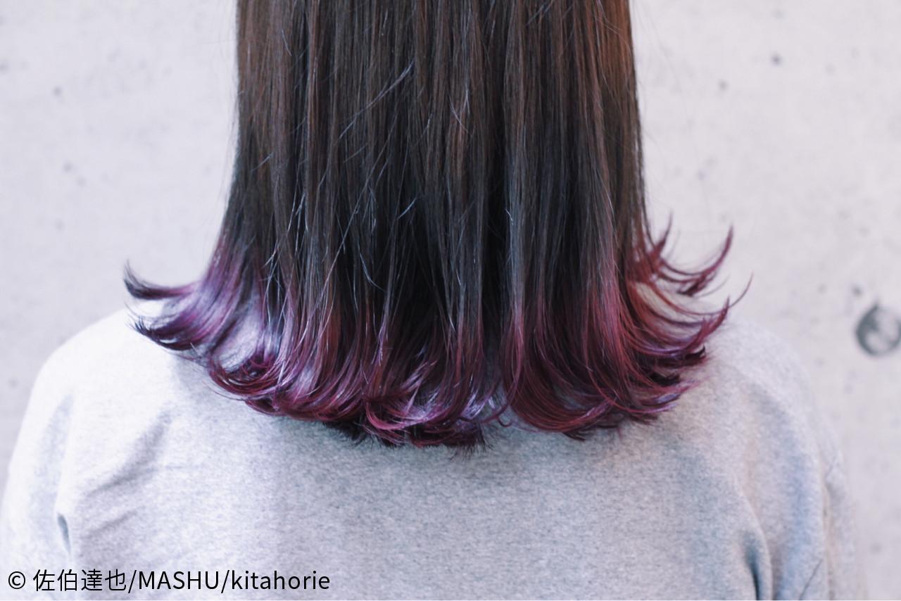 ストリート パープル グレー グラデーションカラー ヘアスタイルや髪型の写真・画像 | 佐伯達也/MASHU/kitahorie / MASHU 北堀江店