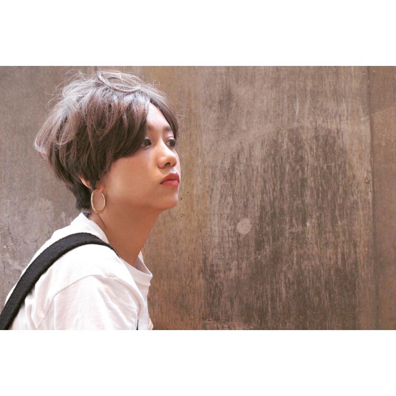 ショート ナチュラル ヘアアレンジ ラフ ヘアスタイルや髪型の写真・画像 | 池田 涼平 / RENJISHI