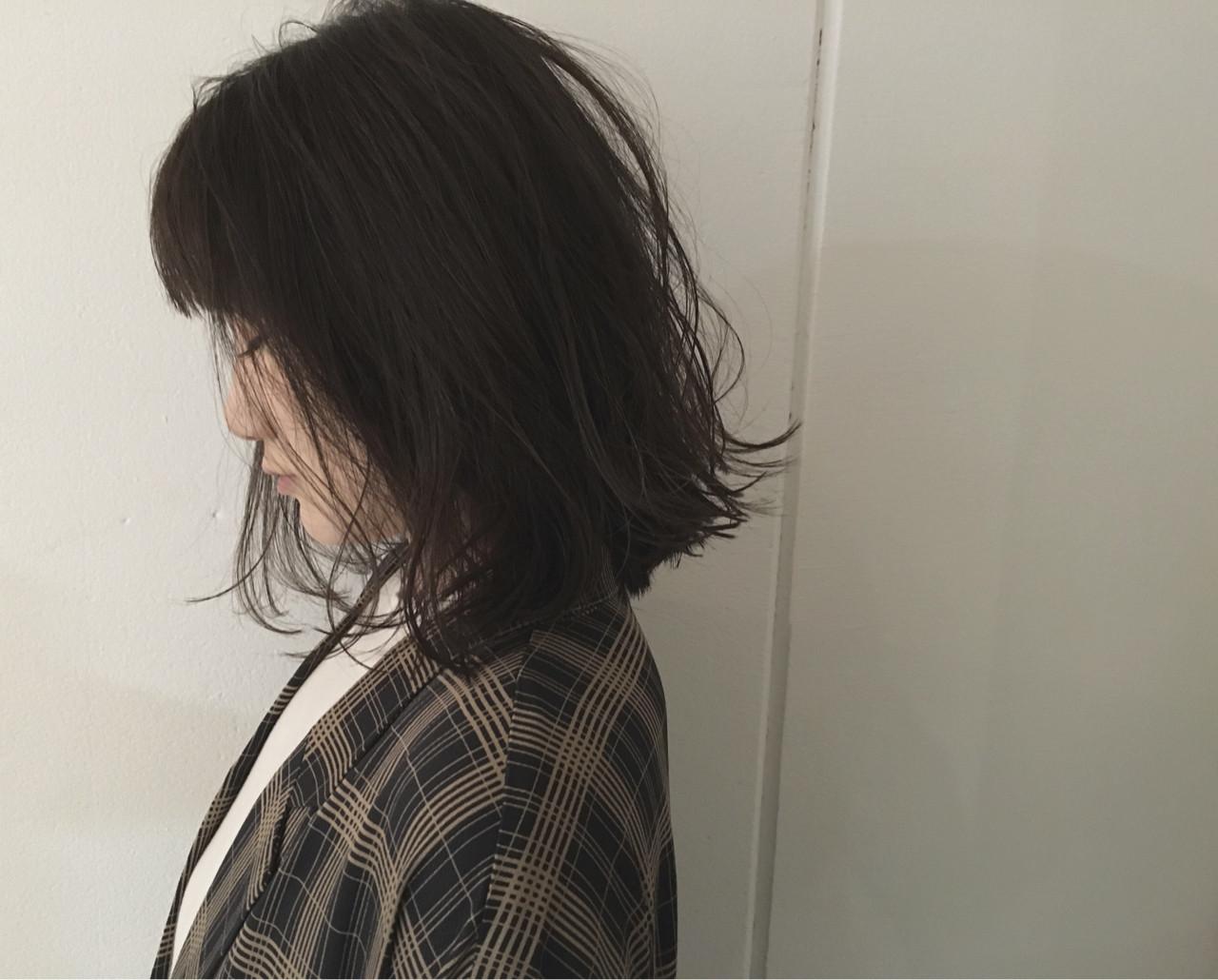 前下がり 抜け感 アッシュ ストリート ヘアスタイルや髪型の写真・画像 | 杉谷 将也 / DiLL / DiLL
