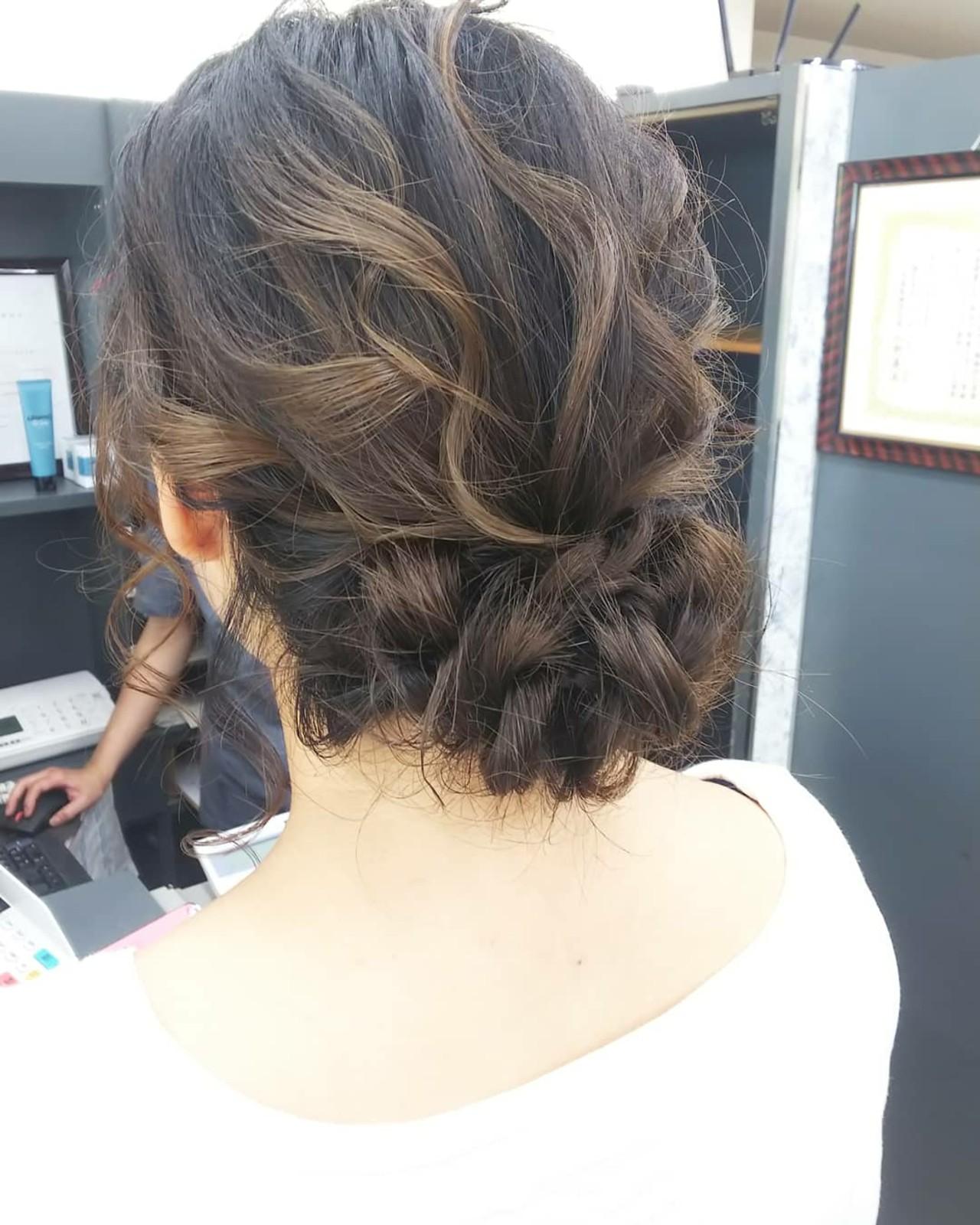 結婚式 ミディアム ヘアセット 浴衣アレンジ ヘアスタイルや髪型の写真・画像 | 細田 浩平 / BEAUTY PARADE