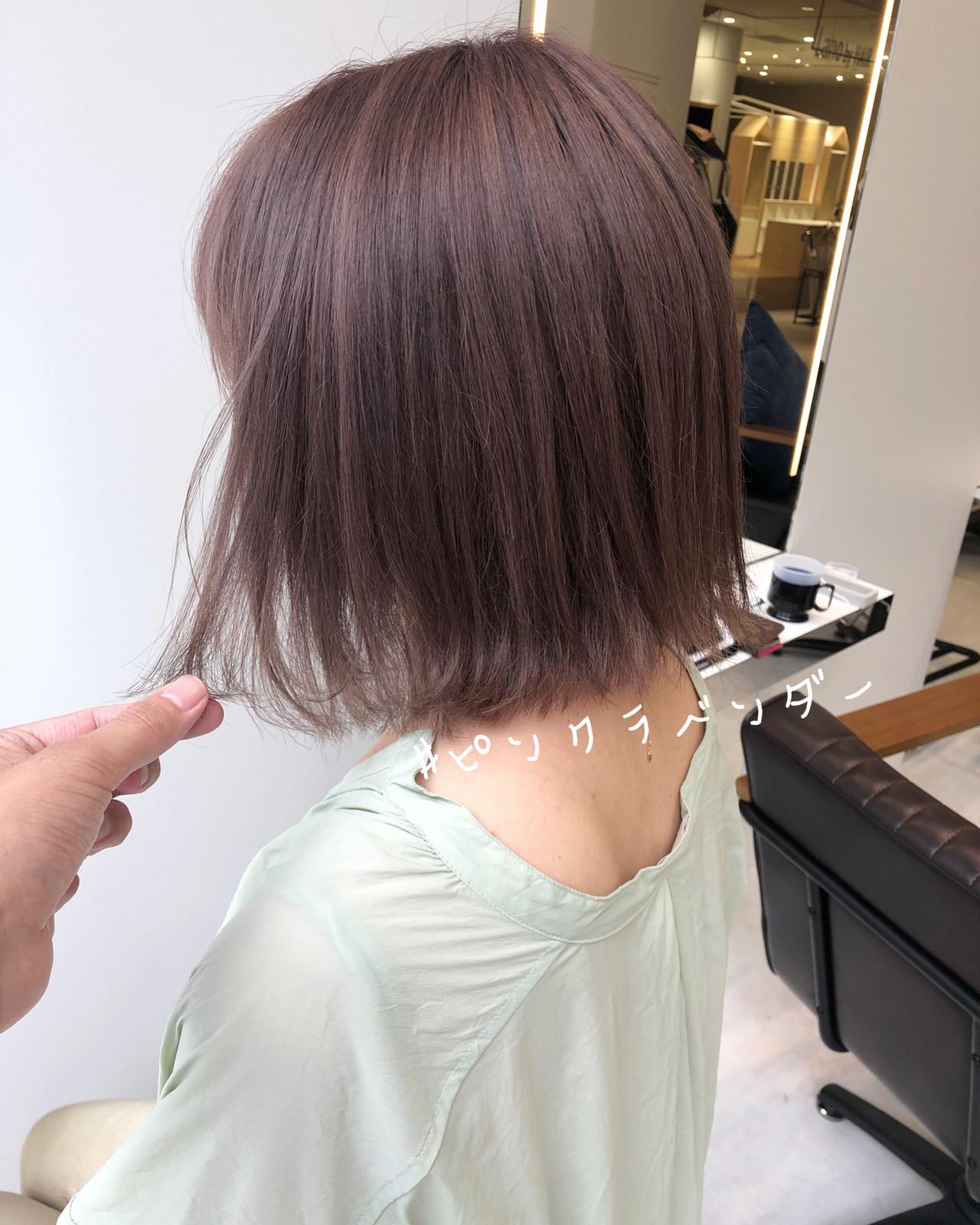 ショートヘア 切りっぱなしボブ ボブ ミニボブ ヘアスタイルや髪型の写真・画像 | 北村 亮 / Lano by HAIR