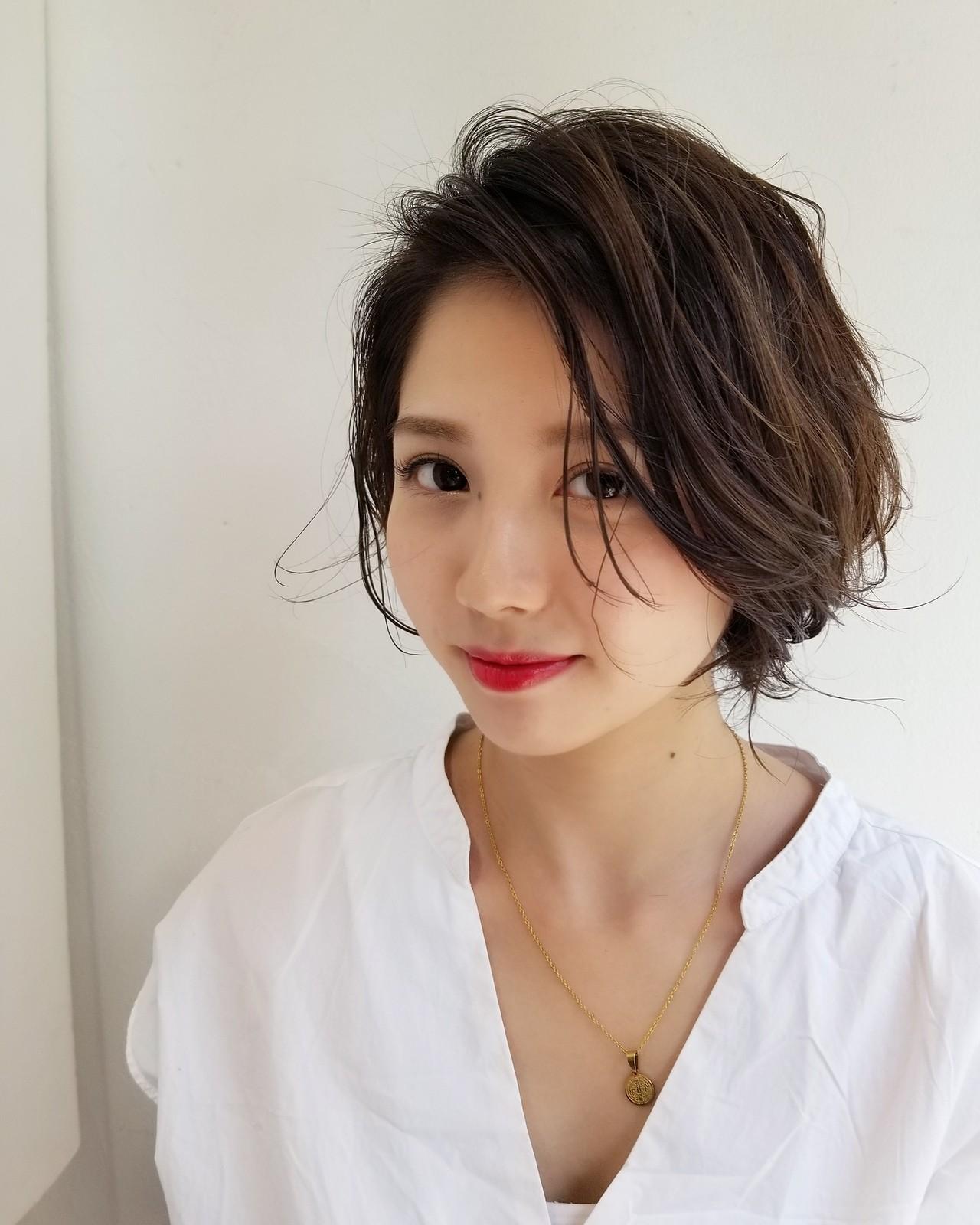 大人女子 ショートボブ 大人かわいい ショート ヘアスタイルや髪型の写真・画像 | 川田 義人 GREEK hairdesign / GREEK  hairdesign【グリーク】