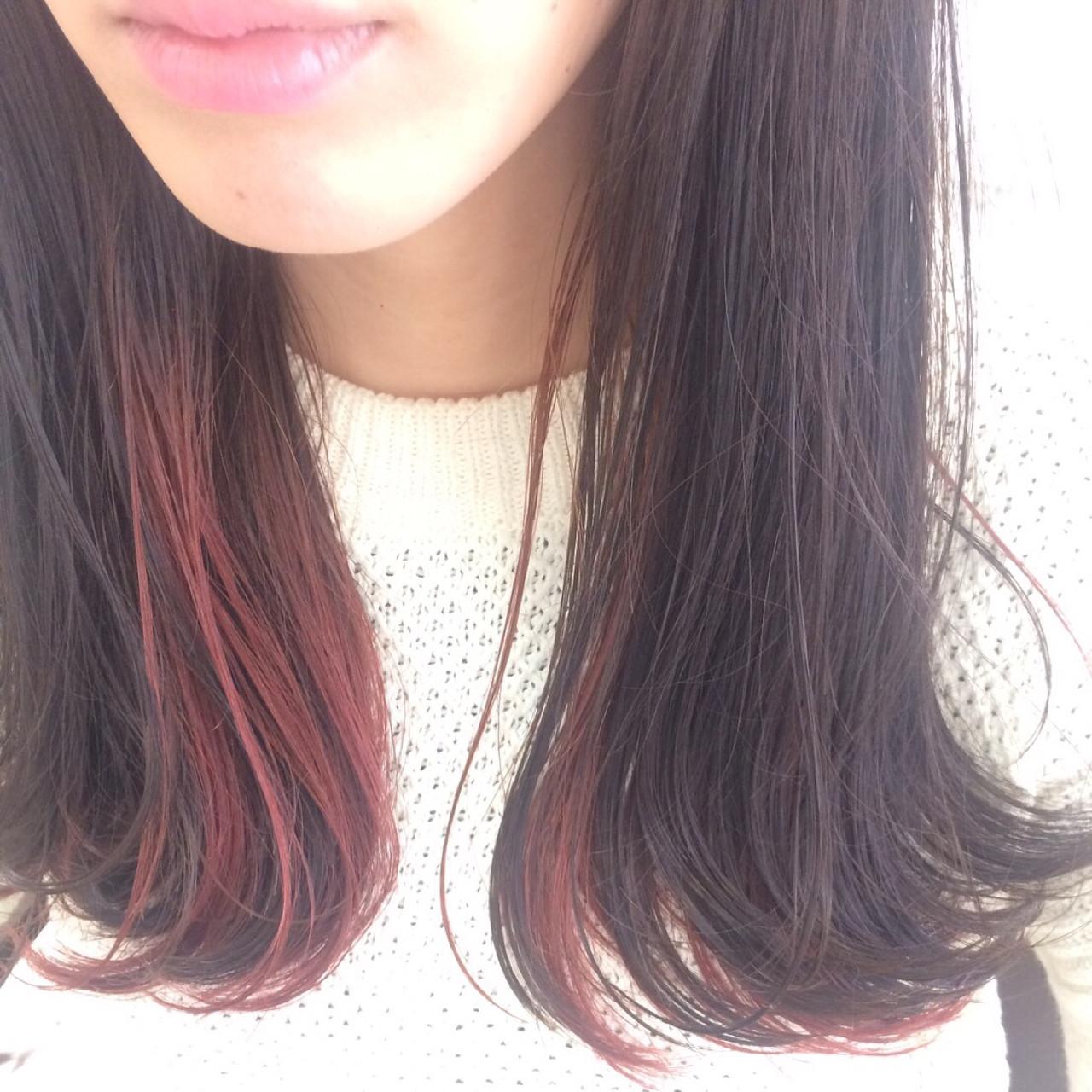 色気 オフィス セミロング ナチュラル ヘアスタイルや髪型の写真・画像 | タカギツカサ / BECCO