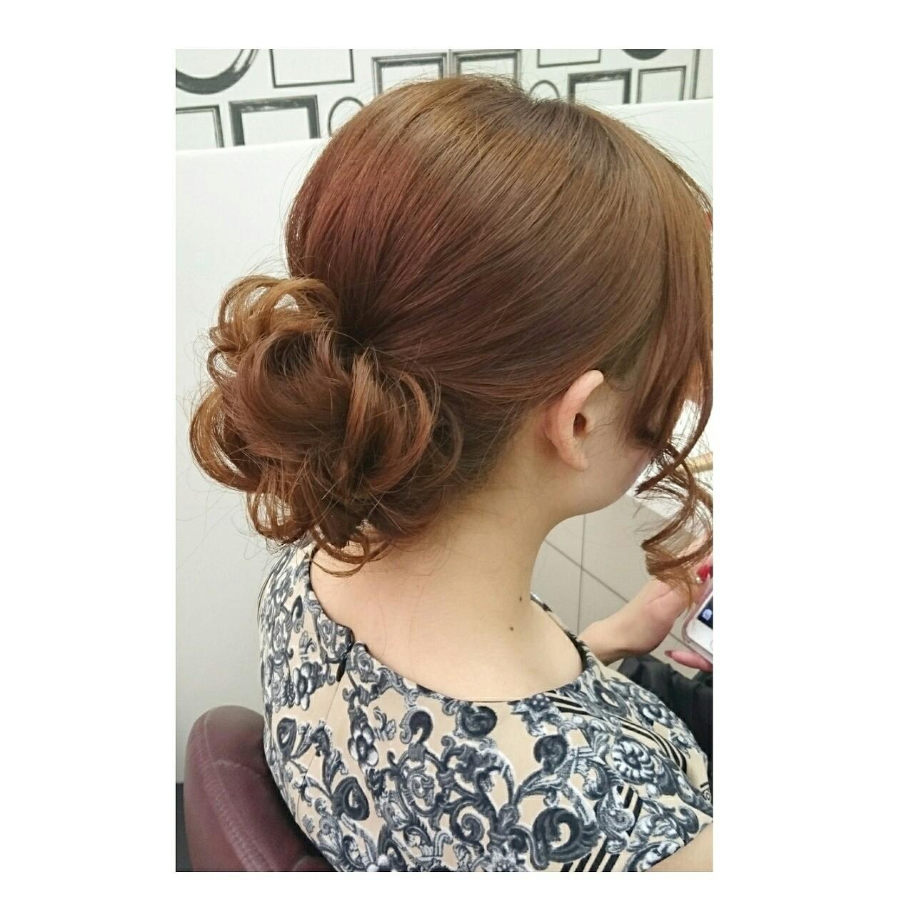 大人かわいい 簡単ヘアアレンジ ゆるふわ ヘアアレンジ ヘアスタイルや髪型の写真・画像 | chisa* / CURE