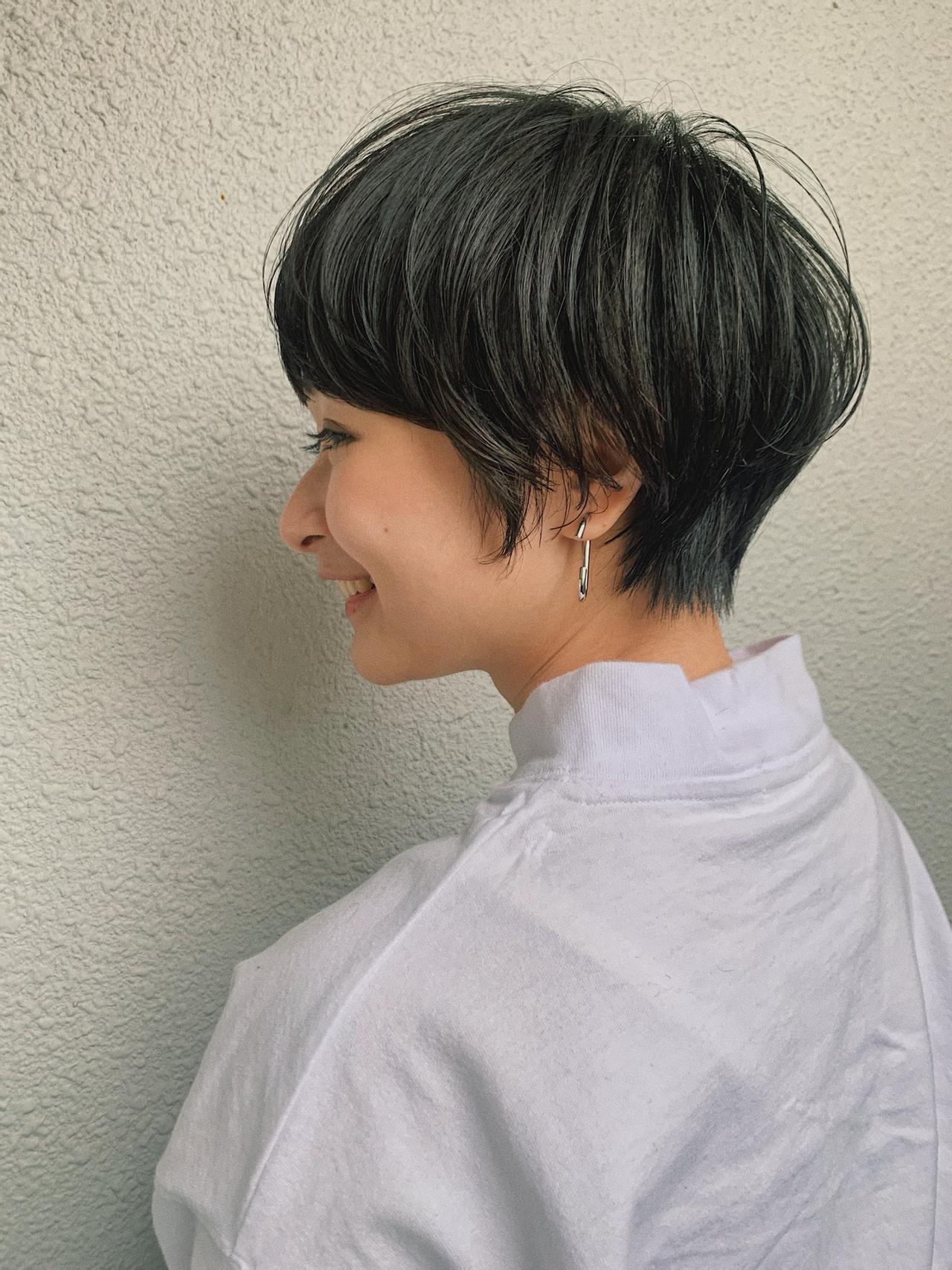 マッシュショート ベリーショート ショートボブ ショート ヘアスタイルや髪型の写真・画像