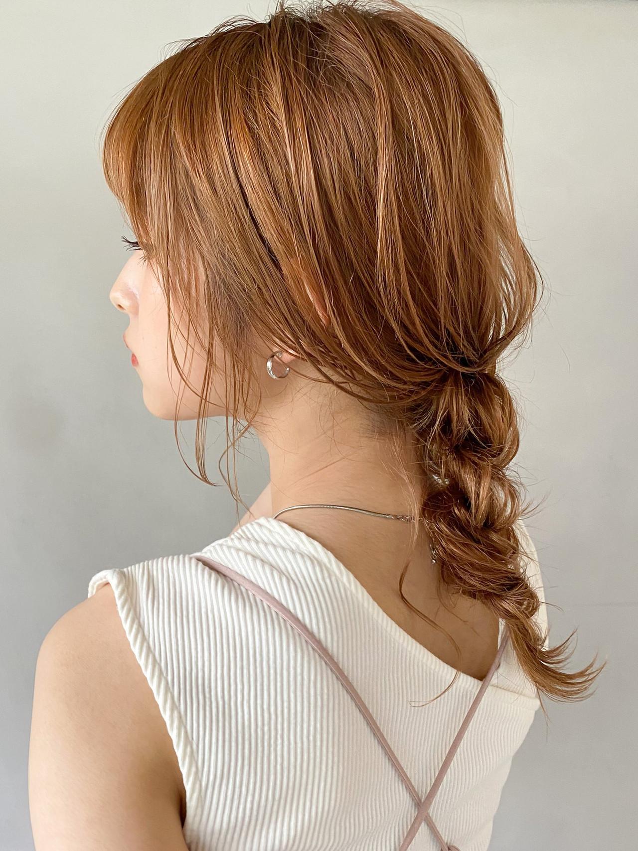 アンニュイほつれヘア フェミニン 大人かわいい 結婚式 ヘアスタイルや髪型の写真・画像 | 二宮 万莉 / kyli 表参道