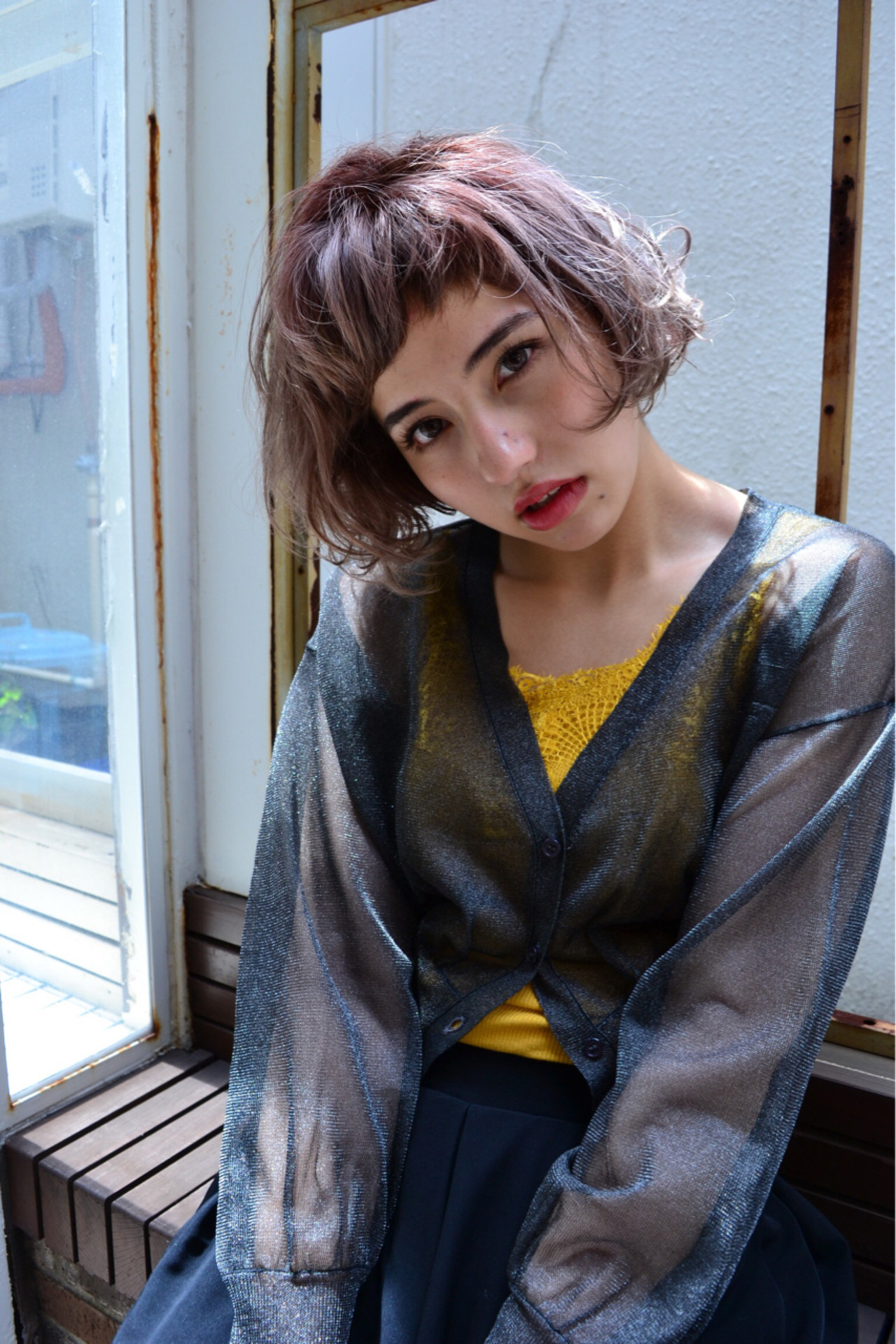 透明感 ヘアアレンジ ストリート 秋 ヘアスタイルや髪型の写真・画像   吉田直人 / tricca balcony hayama