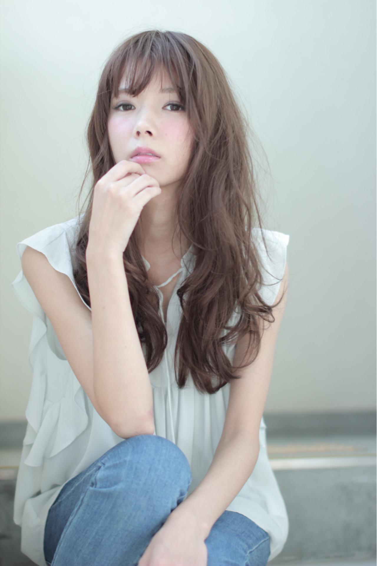 ルーズ ロング ラフ パーマ ヘアスタイルや髪型の写真・画像 | 中村 猛 / MODE K's 塚本店 (モードケイズ)