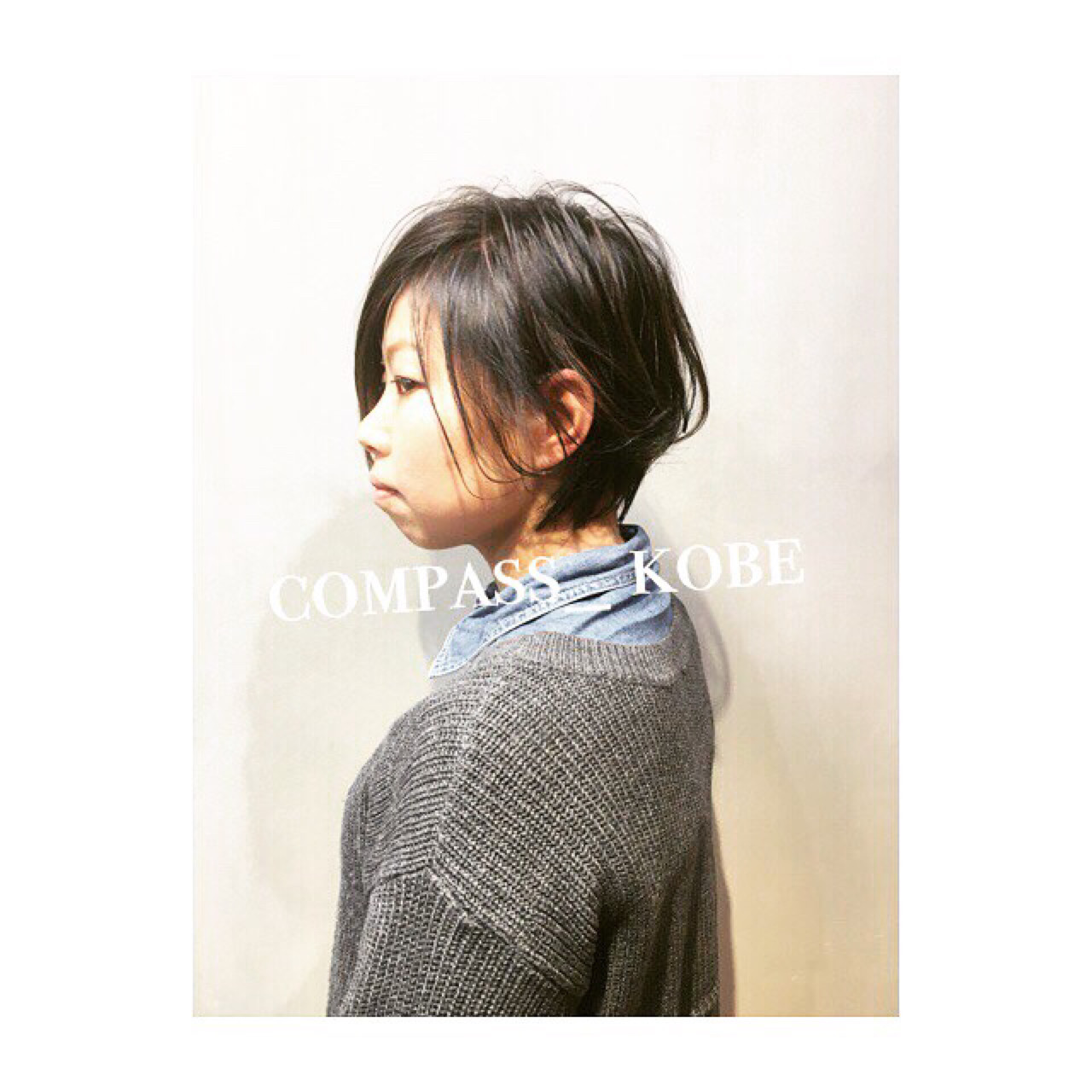 ワイドバング ナチュラル ショート アッシュ ヘアスタイルや髪型の写真・画像   COM PASS 太一 / COM PASS