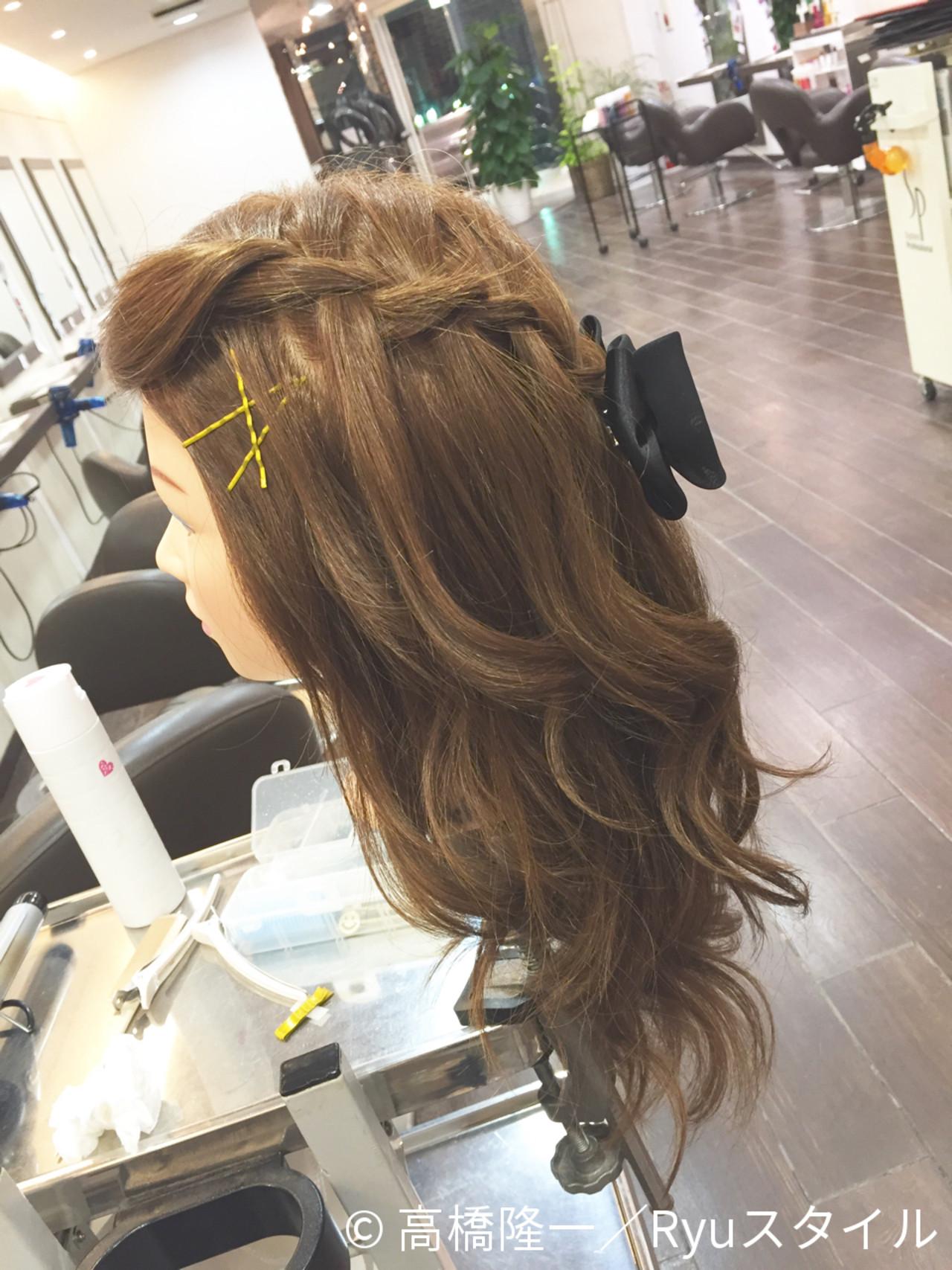 ヘアアレンジ ゆるふわ ハーフアップ 大人かわいいヘアスタイルや髪型の写真・画像