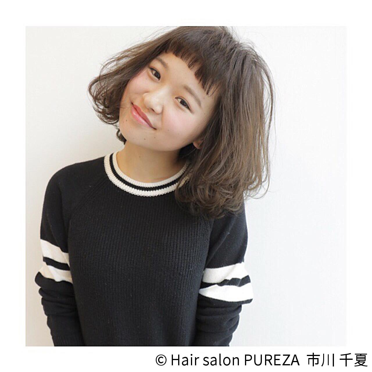 可愛さ上昇は避けられない!春スタイルにどハマリする、''うぶバング''再び。 市川 千夏 / Hair salon PUREZA