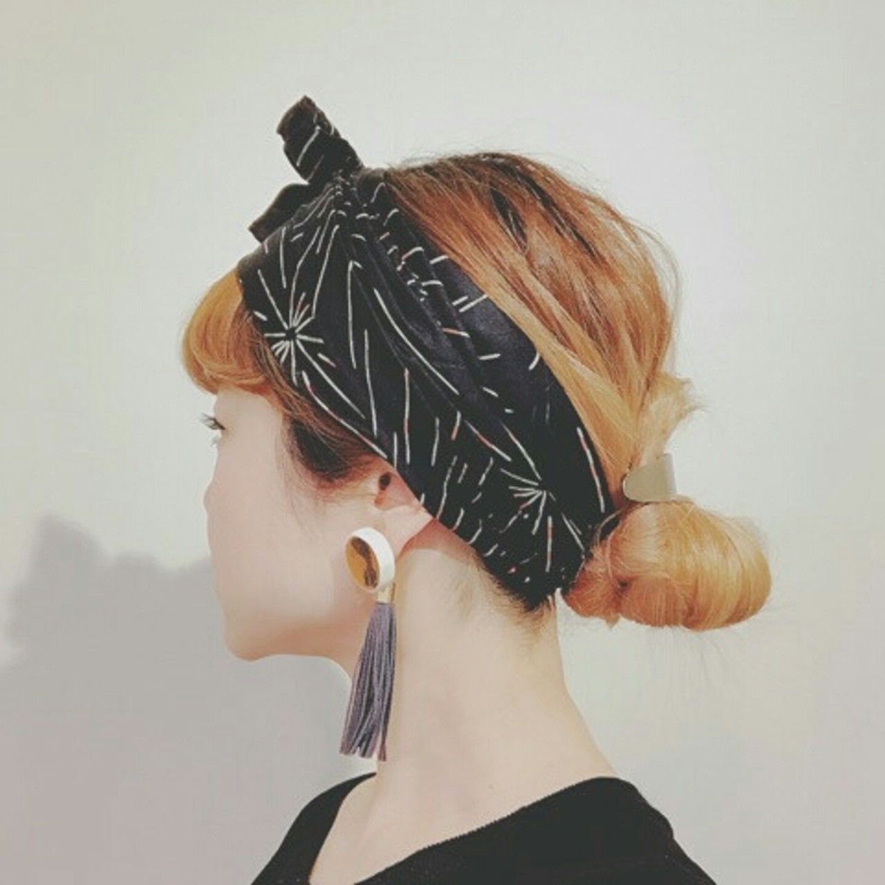 夏 ヘアアクセ ストリート ヘアアレンジ ヘアスタイルや髪型の写真・画像 | 浦川由起江 / nanon