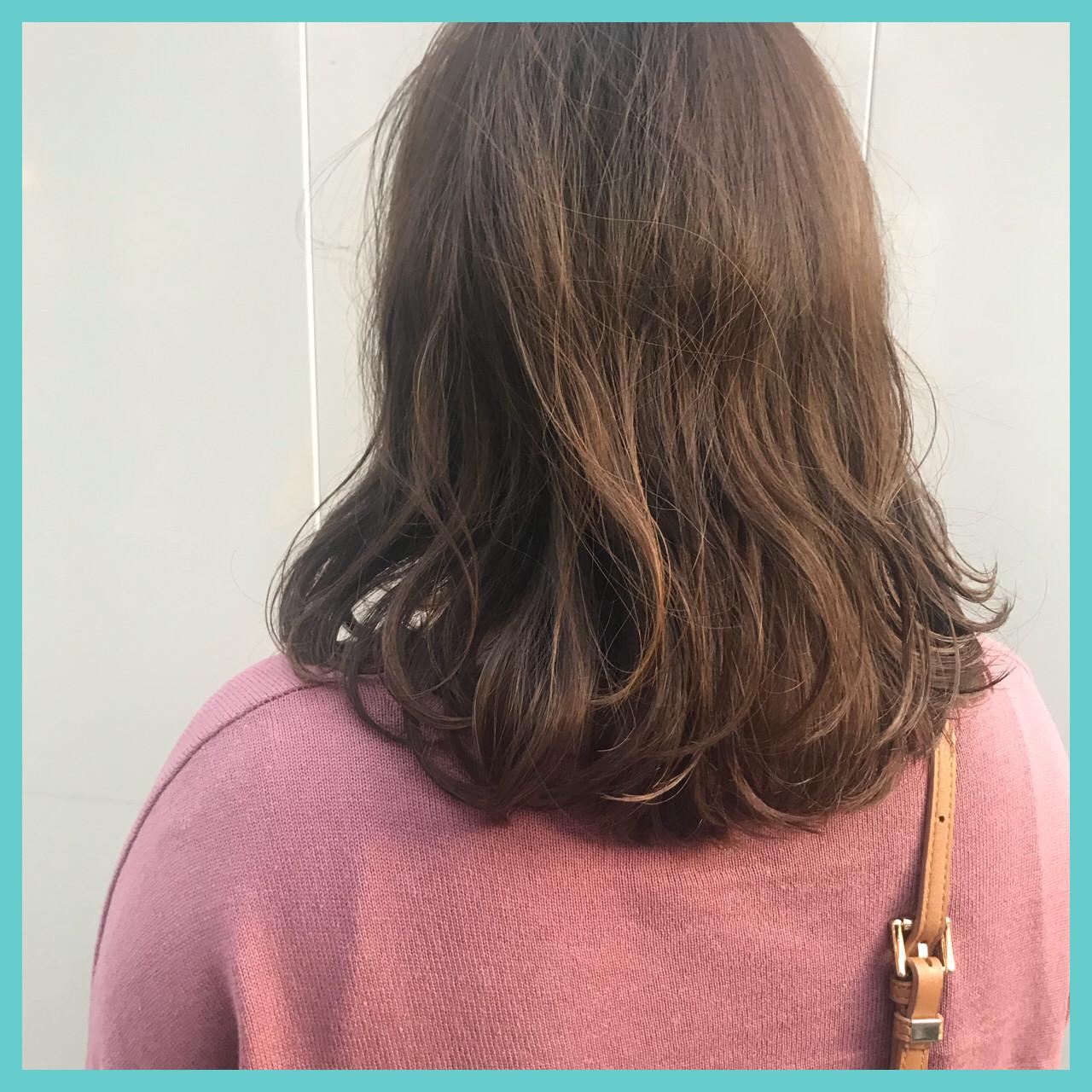 ゆるふわ 愛され モテ髪 ミディアム ヘアスタイルや髪型の写真・画像   aya / RITA&Co.大宮東口店