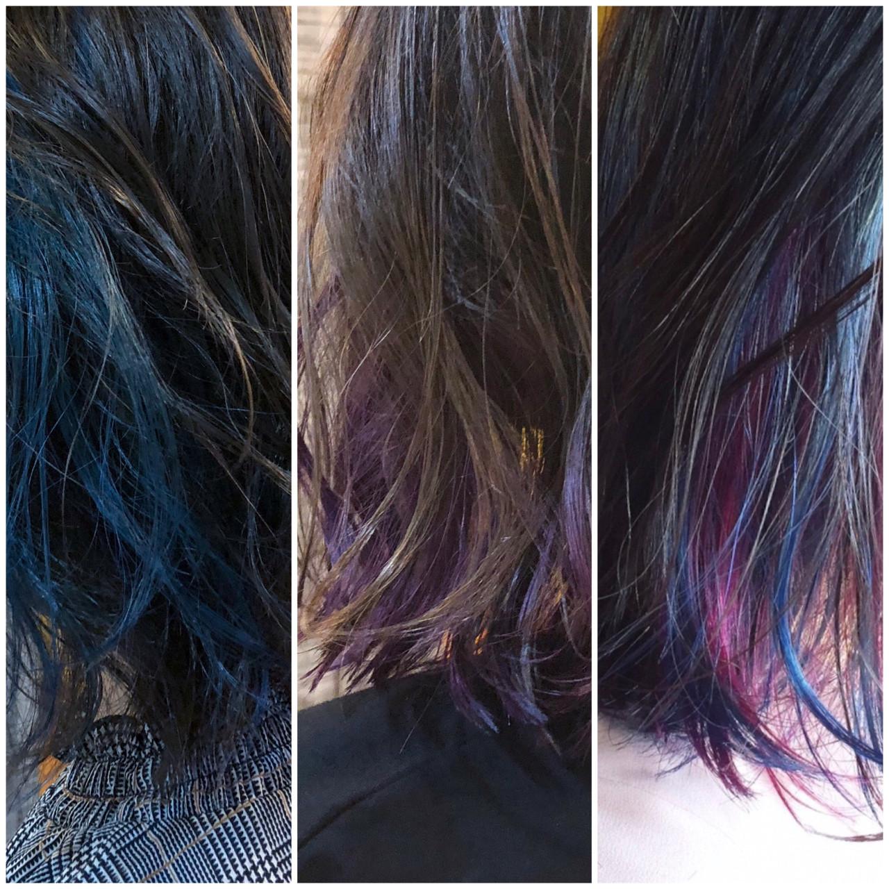 グラデーションカラー インナーカラー 外国人風カラー ロング ヘアスタイルや髪型の写真・画像 | 山口滉斗 / Aust hair Rilly