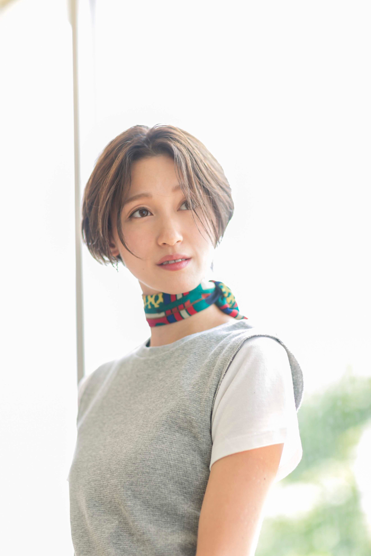ナチュラル 小顔ショート ショート ハンサムショートヘアスタイルや髪型の写真・画像